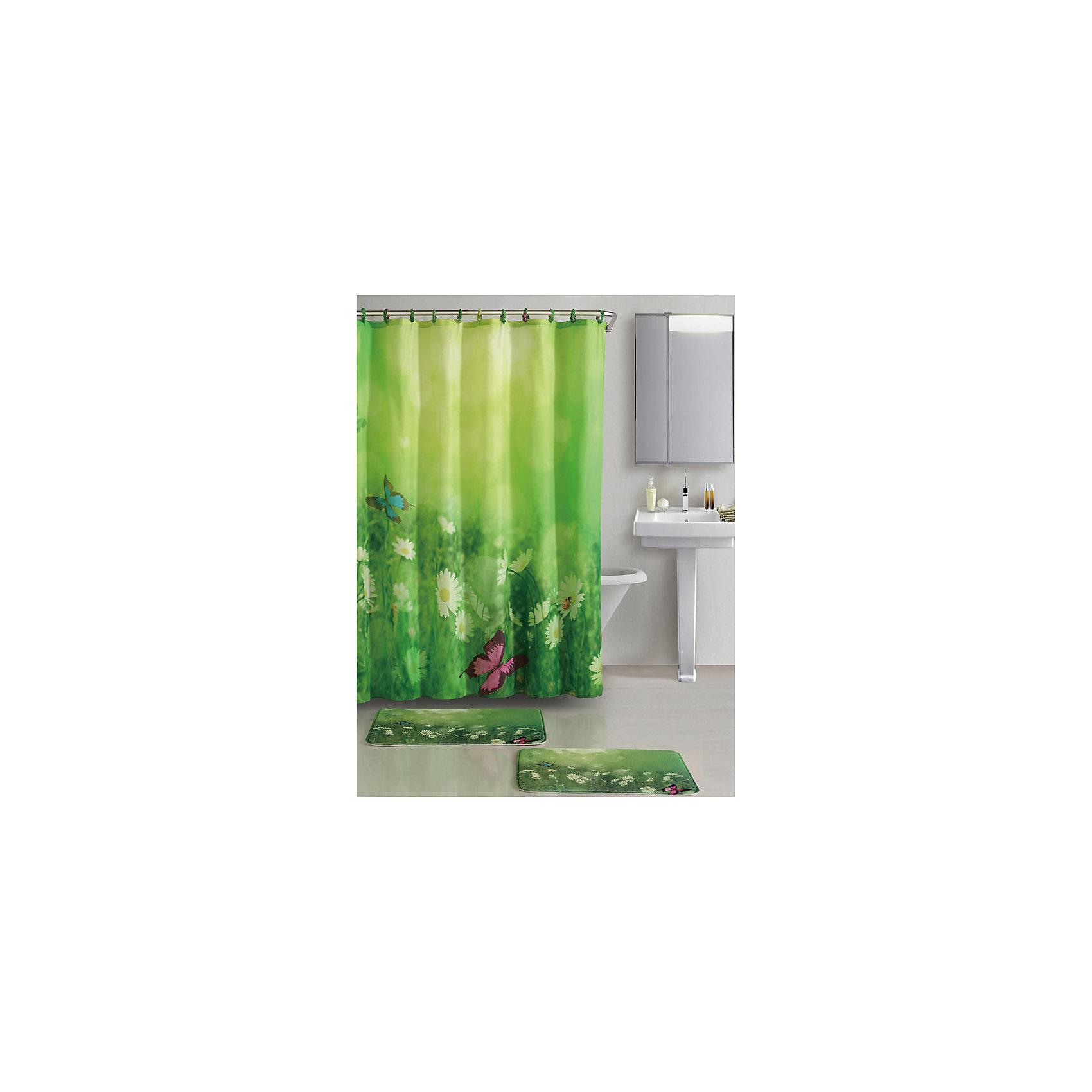 Набор из 3-х предметов для ванной комнаты Лето SET3- LETO, Рыжий КотВанная комната<br>Летние мотивы и солнечное настроение создают аксессуары для ванной комнаты «Лето». Цветочная композиция ромашкового поля повторяется на занавеске и двух ковриках разного размера. Крючки декорированы тканью, для подвешивания занавески используется 12 крючков (есть в комплекте).<br><br>Дополнительная информация:<br><br>Размер занавески: 180х180 см<br>Размер ковриков: 42,5х60 см и 45х70 см<br><br>Материал: <br>Занавеска: 100% полиэстер, 50г/м2<br>Коврики: микрофибра (100% полиэстер), подложка - ПВХ, толщина 1см<br><br>Набор из 3-х предметов для ванной комнаты Лето SET3- LETO, Рыжий Кот можно купить в нашем интернет-магазине.<br><br>Ширина мм: 700<br>Глубина мм: 448<br>Высота мм: 12<br>Вес г: 958<br>Возраст от месяцев: 36<br>Возраст до месяцев: 1080<br>Пол: Унисекс<br>Возраст: Детский<br>SKU: 4989824