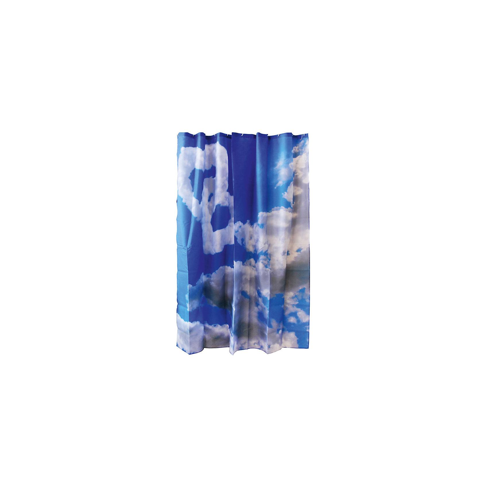 Занавеска для ванной Curtain-Clouds Облака, 180*180см, Рыжий КотЗанавеска для ванной не только ободрит владельца, но и защитит пол в ванной от разбрызгивания воды. Занавеска с печатным рисунком голубого неба подвешивается на пластиковые кольца, которые входят в комплект набора «Рыжий кот» в количестве 12 штук. <br><br>Дополнительная информация:<br><br>Размер: 180х180 см<br>Материал: 100% полиэстер с водоотталкивающим покрытием<br>Упаковка: ПВХ пакет с крючком<br><br>Занавеску для ванной Curtain-Clouds Облака, 180*180см, Рыжий Кот можно купить в нашем интернет-магазине.<br><br>Ширина мм: 1790<br>Глубина мм: 1780<br>Высота мм: 50<br>Вес г: 406<br>Возраст от месяцев: 36<br>Возраст до месяцев: 1080<br>Пол: Унисекс<br>Возраст: Детский<br>SKU: 4989825