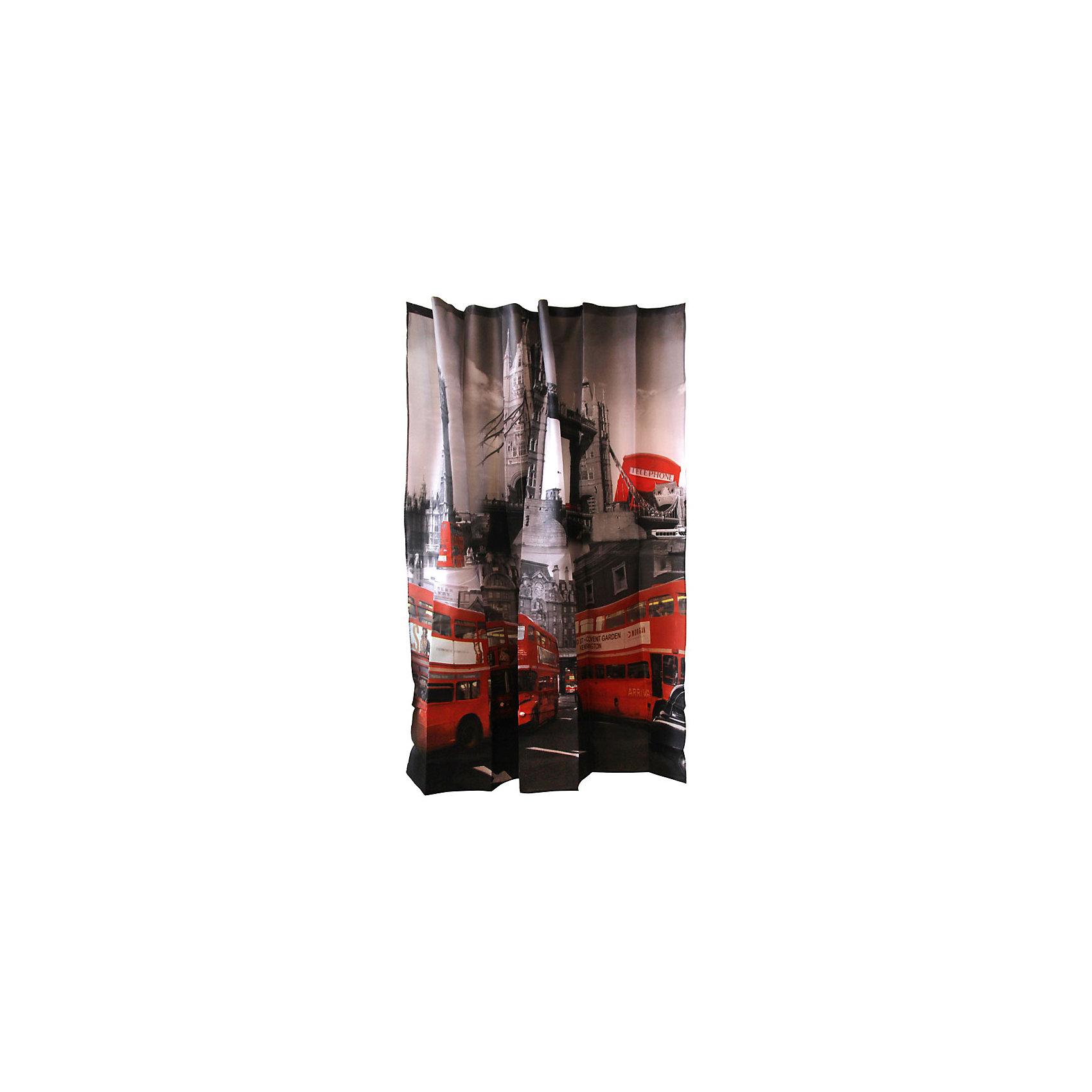 Занавеска для ванной Curtain-Bus Лондонский автобус, 180*180см, Рыжий КотШторы для ванны<br>Занавеска для ванной защищает от разбрызгивания пол, стены и зеркала в ванной комнате. Занавеска с печатным рисунком подвешивается на пластиковые кольца, которые входят в комплект набора «Рыжий кот» в количестве 12 штук. <br><br>Дополнительная информация:<br><br>Размер: 180х180 см<br>Материал: 100% полиэстер с водоотталкивающим покрытием<br>Упаковка: ПВХ пакет с крючком<br><br>Занавеску для ванной Curtain-Bus Лондонский автобус, 180*180см, Рыжий Кот можно купить в нашем интернет-магазине.<br><br>Ширина мм: 1795<br>Глубина мм: 1775<br>Высота мм: 30<br>Вес г: 410<br>Возраст от месяцев: 36<br>Возраст до месяцев: 1080<br>Пол: Унисекс<br>Возраст: Детский<br>SKU: 4989829