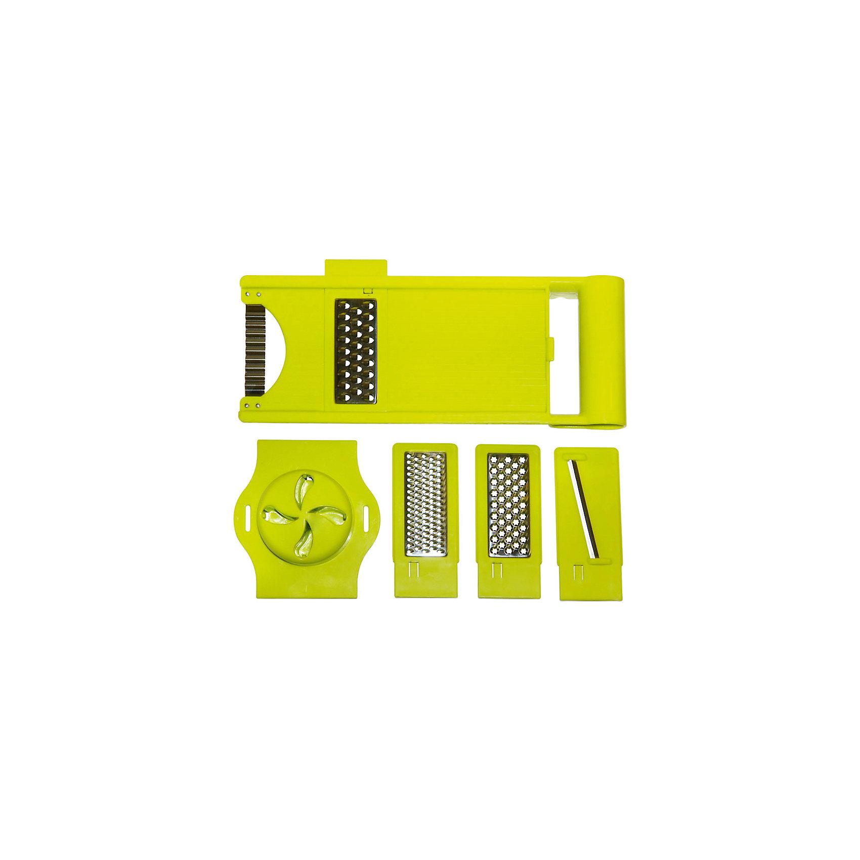 Терка GR-122 с 4 насадками, MallonyБытовая техника для кухни<br>Терка имеет пластиковую платформу, ручку и ножи из нержавеющей стали. Терка укомплектована 4 сменными насадками. Насадки крепятся к основанию терки, раздается щелчок - терка готова к использованию. Терка имеет прямоугольную форму, не скользит по поверхности стола.<br><br>Дополнительная информация:<br><br>Размер: 31,2х13,7х6,7 см<br>Материал: нержавеющая сталь, пластик<br><br>Терку GR-122 с 4 насадками, Mallony можно купить в нашем интернет-магазине.<br><br>Ширина мм: 312<br>Глубина мм: 118<br>Высота мм: 45<br>Вес г: 481<br>Возраст от месяцев: 216<br>Возраст до месяцев: 1080<br>Пол: Унисекс<br>Возраст: Детский<br>SKU: 4989841