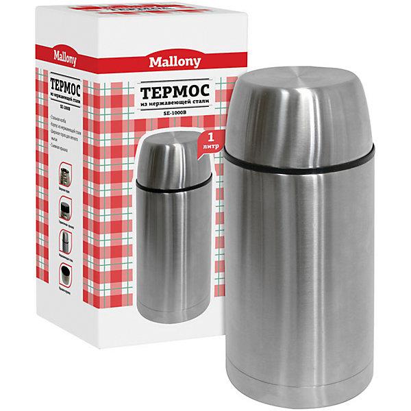 Термос SE-1000B 1 л, нерж.сталь, суповой, MallonyТермосумки и термосы<br>Термос суповой для первых и вторых блюд надолго сохраняет тепло, дает возможность отведать домашние блюда горячими, с пылу, с жару. Термос с широким горлышком - удобно наливать первые блюда.<br><br>Дополнительная информация:<br><br>Размер термоса: 22,5х11,5х11,5 см<br>Объем термоса: 1 л<br><br>Материал: <br>колба – металл; <br>корпус – нержавеющая сталь.<br><br>Термос SE-1000B 1 л, нерж.сталь, суповой, Mallony можно купить в нашем интернет-магазине.<br>Ширина мм: 100; Глубина мм: 100; Высота мм: 218; Вес г: 705; Возраст от месяцев: 6; Возраст до месяцев: 1080; Пол: Унисекс; Возраст: Детский; SKU: 4989844;