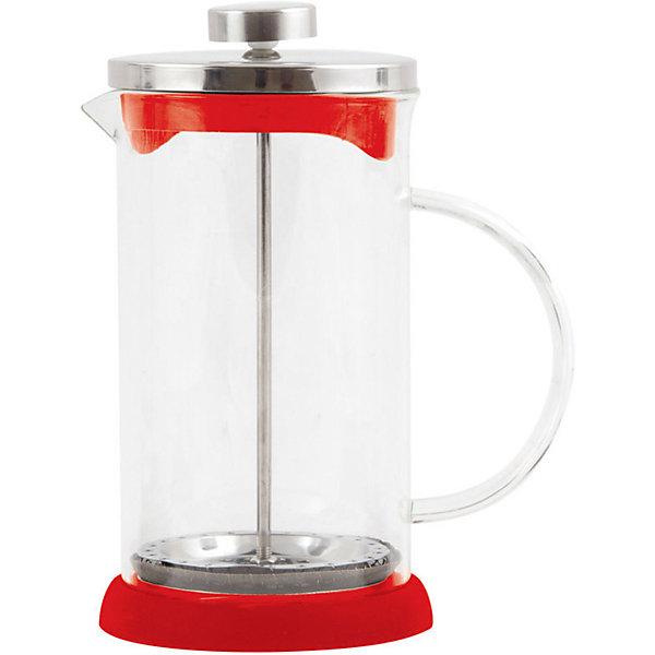 Кофе-пресс стеклянный GFP01-600ML-R, Mallony, красныйКухонная утварь<br>Заварить чай или подать кофе – кофе-пресс Mallony поможет в этом. Прозрачная стеклянная колба дает возможность увидеть насыщенный цвет чая, рассмотреть, как раскрываются чайные листья, набухают и отдают свой цвет, наполняя кухню ароматом свежеприготовленного напитка. После того, как чай настоится, специальный пресс опускается, листья плотно прижимаются ко дну чайника, чаинки не попадают в чашку.<br><br>Дополнительная информация:<br><br>Высота чайника: 19,3 см<br>Объем: 600 мл<br><br>Материал: стекло, нержавеющая сталь, силикон, пластик.<br><br>Упаковка: цветная индивидуальная коробка.<br><br>Кофе-пресс стеклянный GFP01-600ML-R, Mallony, красный можно купить в нашем интернет-магазине.<br><br>Ширина мм: 148<br>Глубина мм: 98<br>Высота мм: 186<br>Вес г: 462<br>Возраст от месяцев: 216<br>Возраст до месяцев: 1080<br>Пол: Унисекс<br>Возраст: Детский<br>SKU: 4989860
