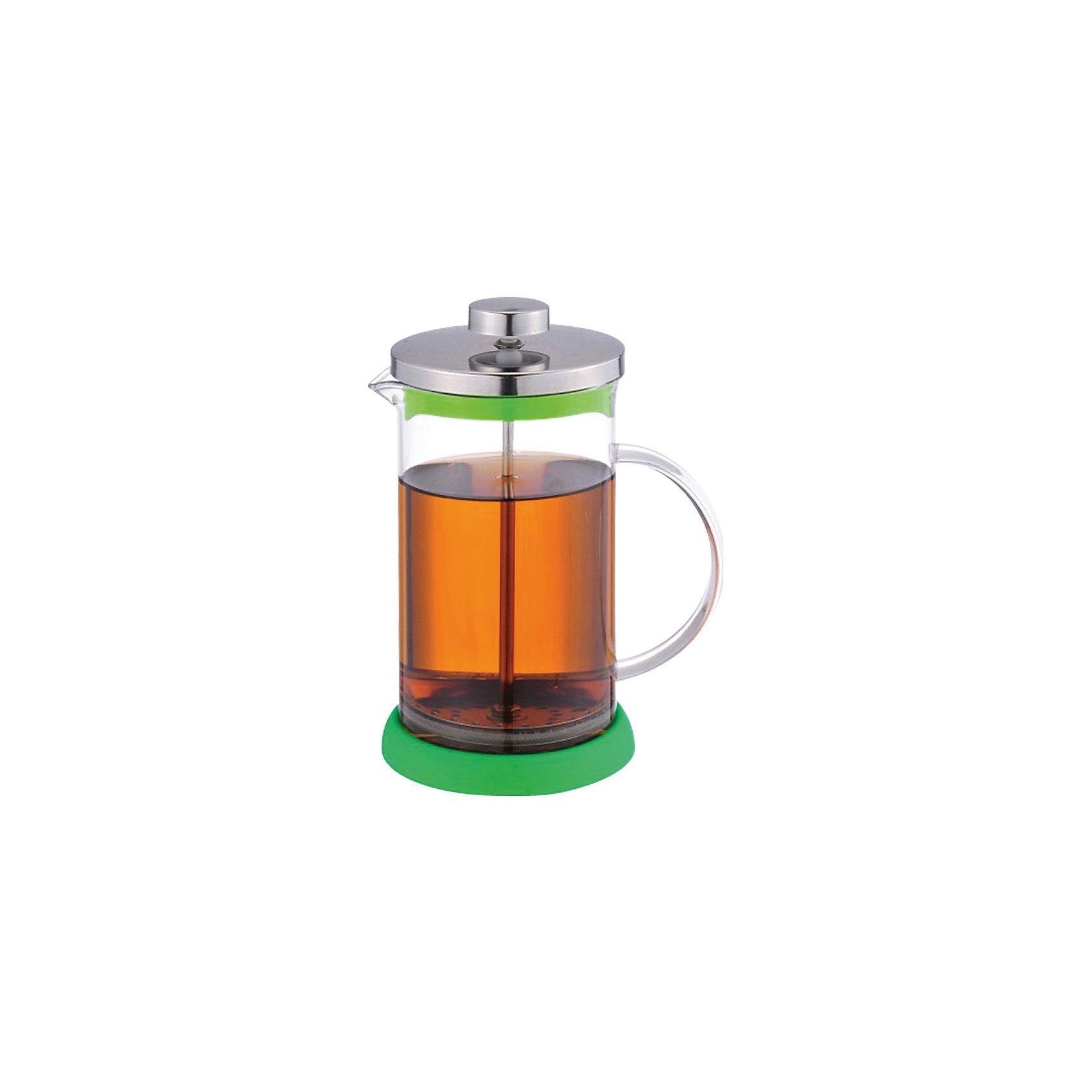 Кофе-пресс стеклянный GFP01-1000ML-G, Mallony, зеленый