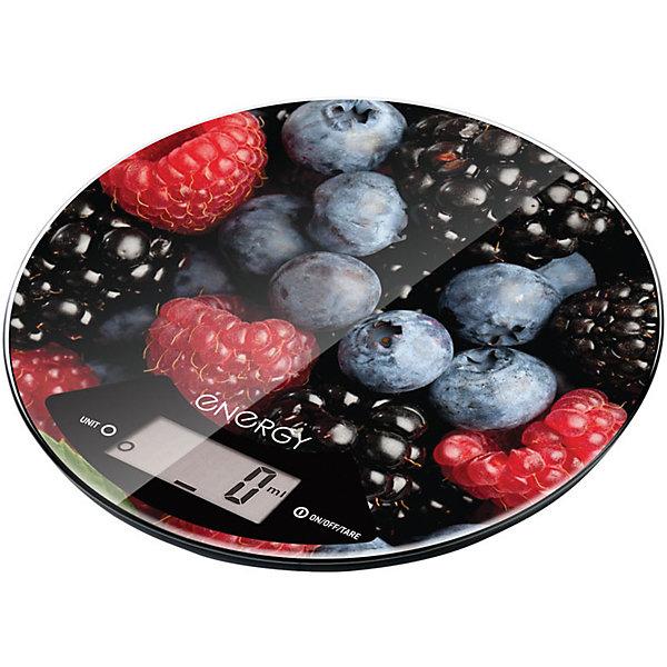 Весы кухонные электронные EN-403, Energy, ягодныйКухонная утварь<br>Использование весов для измерения веса продуктов – залог успешной рецептуры и точной пропорции в приготовлении блюда. Электронные весы выдерживают нагрузку до 5 кг, оснащены функцией измерения объема, тара и автоотключения. Хозяйка сама выбирает единицы измерения: граммы, мл, унции. Кухонные весы декорированы «вкусным» принтом. <br><br>Дополнительная информация:<br><br>Размер: 21х21х2,4 см<br><br>Тип управления: сенсорное управление<br><br>Батарейки входят в комплект: 1 шт. типа CR2032<br><br>Весы кухонные электронные EN-403, Energy, ягодный можно купить в нашем интернет-магазине.<br>Ширина мм: 210; Глубина мм: 210; Высота мм: 30; Вес г: 467; Возраст от месяцев: 6; Возраст до месяцев: 1080; Пол: Унисекс; Возраст: Детский; SKU: 4989869;