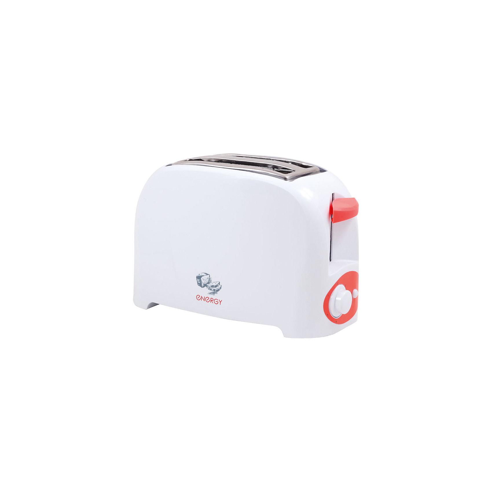 Тостер EN-263, 7 степеней прожарки, поддон для крошек, 750Вт, EnergyБытовая техника для кухни<br>Приготовить хрустящие тосты помогает функциональный тостер Energy. 7 степеней прожарки хлеба дают возможность выбрать режим с более зажаренной корочкой или только слегка подрумяненной. После приготовления тостов, они автоматически поднимутся наверх. На тостере имеется кнопка отмены выбранного режима. Тостер оснащен двумя широкими слотами для хлеба. Специальный поддон для крошек позволяет содержать место под тостером в чистоте. <br><br>Дополнительная информация:<br><br>Размеры тостера: 27х14,5х17,3 см<br><br>Мощность 750 Вт<br><br>Тостер EN-263, 7 степеней прожарки, поддон для крошек, 750Вт, Energy можно купить в нашем интернет-магазине.<br><br>Ширина мм: 270<br>Глубина мм: 150<br>Высота мм: 170<br>Вес г: 1120<br>Возраст от месяцев: 216<br>Возраст до месяцев: 1080<br>Пол: Унисекс<br>Возраст: Детский<br>SKU: 4989879