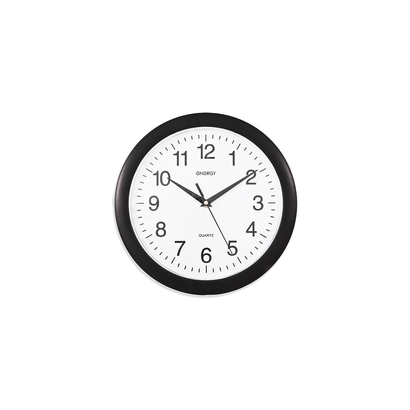 Часы настенные кварцевые ЕС-02, EnergyПредметы интерьера<br>Контролировать ход времени и точно знать, который час, вам помогут кварцевые часы Energy. Настенные часы круглой формы с крупными цифрами на циферблате оформлены в черно-белом стиле. Плавный ход часов. <br><br>Дополнительная информация:<br><br>Размер: 28х28 см <br><br>Материал корпуса: пластик<br><br>Напряжение: 1.5В<br><br>Для работы настенных часов требуется приобрести батарейки: 1 шт. типа АА<br><br>Часы настенные кварцевые ЕС-02, Energy можно купить в нашем интернет-магазине.<br><br>Ширина мм: 280<br>Глубина мм: 400<br>Высота мм: 280<br>Вес г: 536<br>Возраст от месяцев: 36<br>Возраст до месяцев: 1080<br>Пол: Унисекс<br>Возраст: Детский<br>SKU: 4989890