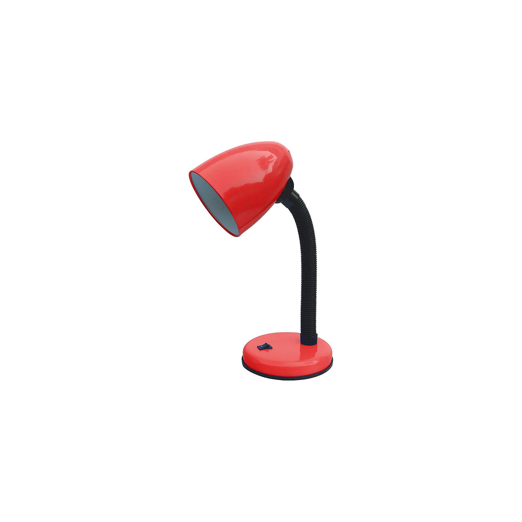 Лампа электрическая настольная EN-DL12-2, Energy, красныйЛампы, ночники, фонарики<br>Электрическая лампа на подставке с кнопкой включения и выключения. Высота лампы регулируется, изменяется угол наклона абажура. Лампа предназначена для лампочек со стандартным цоколем Е27. <br><br>Дополнительная информация:<br><br>Размеры лампы: 20,4х16х14,3 см<br> <br>Мощность: 40 Вт<br>Длина шнура: 1,2 м<br>Высота лампы: 366 мм<br>Диаметр абажура: 105 мм<br><br>Обратите внимание: лампочки в комплект поставки не входят!<br><br>Лампу электрическую настольную EN-DL12-2, Energy, красную можно купить в нашем интернет-магазине.<br><br>Ширина мм: 160<br>Глубина мм: 140<br>Высота мм: 200<br>Вес г: 793<br>Возраст от месяцев: 36<br>Возраст до месяцев: 1080<br>Пол: Унисекс<br>Возраст: Детский<br>SKU: 4989900
