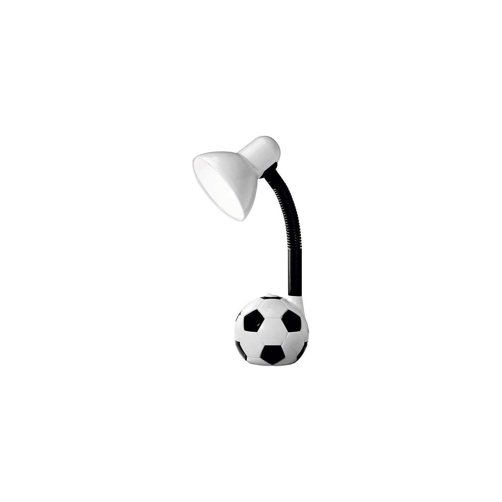 Лампа электрическая настольная EN-DL14, Energy, черно-белыйЭлектрическая лампа на подставке в форме футбольного мяча – детская настольная лампа. Высота настольной лампы регулируется, изменяется угол наклона абажура. <br>Лампа предназначена для лампочек со стандартным цоколем Е27. <br><br>Дополнительная информация:<br><br>Размер: 22,4х19,8х13 см<br> <br>Мощность: 40 Вт<br>Длина шнура: 1,2 м<br>Высота лампы: 450 мм<br>Диаметр абажура: 125 мм<br><br>Обратите внимание: лампочки в комплект поставки не входят!<br><br>Лампу электрическую настольную EN-DL14, Energy, черно-белую можно купить в нашем интернет-магазине.<br><br>Ширина мм: 200<br>Глубина мм: 130<br>Высота мм: 220<br>Вес г: 1002<br>Возраст от месяцев: 36<br>Возраст до месяцев: 1080<br>Пол: Унисекс<br>Возраст: Детский<br>SKU: 4989902