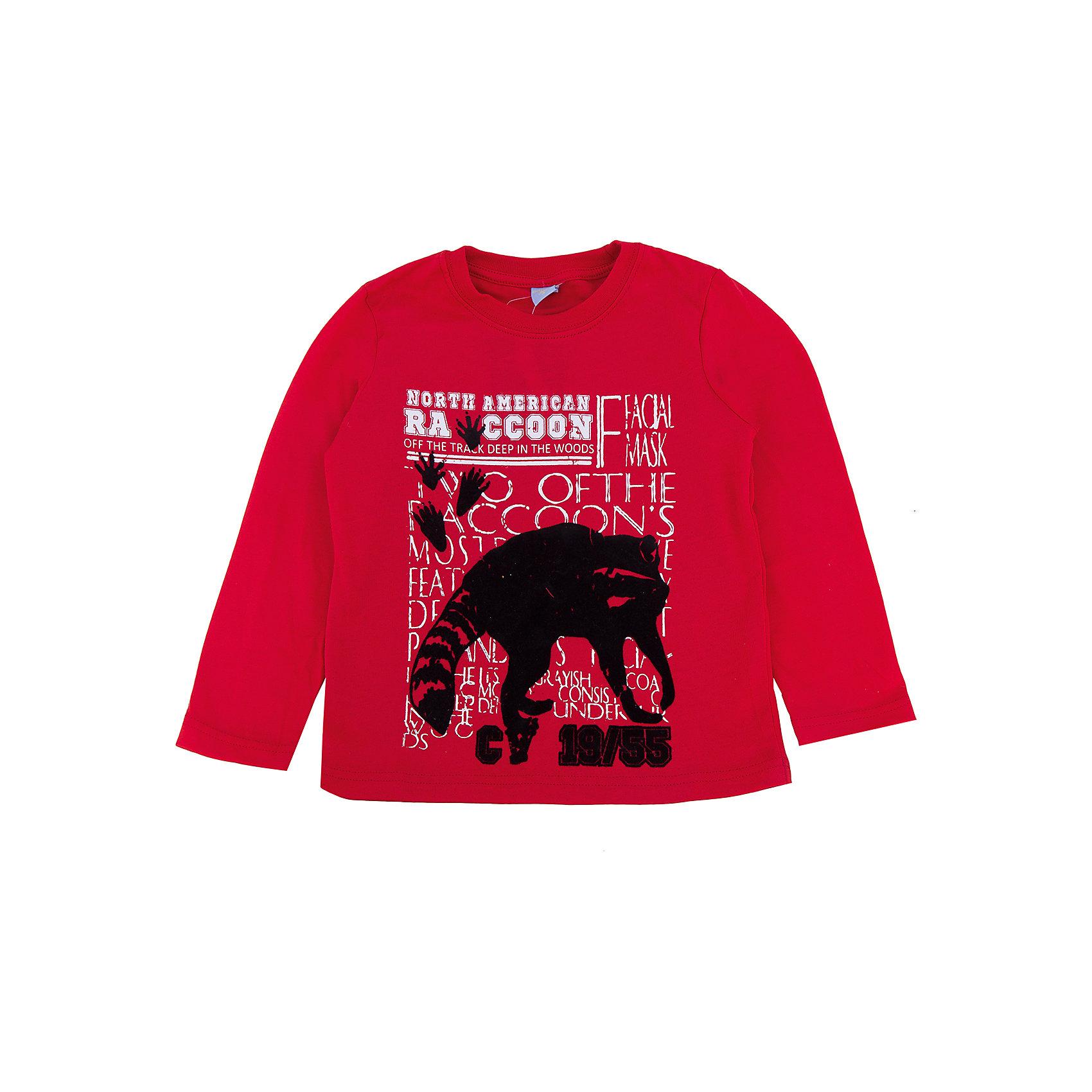 Футболка с длиным рукавом для мальчика DAUBERФутболка с длинным рукавом для мальчика DAUBER<br>Характеристики:<br><br>• Состав: 100%хлопок.<br>• Цвет: Красный.<br>• Материал: трикотаж.<br><br>Футболка для мальчика от российского бренда DAUBER.<br>Стильная футболочка красного цвета выполнена из хлопкового трикотажа. Модный принт – крошка-енот, не оставит равнодушным вашего малыша. Натуральный хлопок в составе изделия делает его дышащим, приятным на ощупь и гипоаллергенным. Мягкая обтачка на горловине не вызовет трудностей при надевании. В такой футболке ваш мальчик будет чувствовать себя комфортно и уютно, как дома, так и на улице.<br><br>Футболку с длинным рукавом для мальчика, можно купить в нашем интернет - магазине.<br><br>Ширина мм: 230<br>Глубина мм: 40<br>Высота мм: 220<br>Вес г: 250<br>Цвет: оранжевый<br>Возраст от месяцев: 24<br>Возраст до месяцев: 36<br>Пол: Мужской<br>Возраст: Детский<br>Размер: 98,116,110,104<br>SKU: 4990356