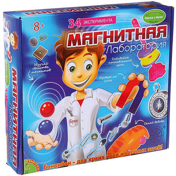 Французские опыты Магнитная лаборатория (35 экспериментов)Химия и физика<br>Проводя занимательные опыты с магнитами, малыш получает знания о свойствах и силе магнитов, о том, что такое магнитные полюса и почему одни материалы притягиваются к ним, а другие – нет! А еще, ребенок сможет познакомиться с историей магнитов, сфере их применения и даже сможет изготавливать их самостоятельно.<br><br>Дополнительная информация:<br><br>- Возраст: от 8 лет.<br>- 35 экспериментов.<br>- Материал: пластик, метал.<br>- Размер упаковки: 27x6.5x24 см.<br><br>Купить французские опыты Магнитная лаборатория ( 35 экспериментов), можно в нашем магазине.<br>Ширина мм: 27; Глубина мм: 7; Высота мм: 24; Вес г: 681; Возраст от месяцев: 96; Возраст до месяцев: 144; Пол: Унисекс; Возраст: Детский; SKU: 4993036;