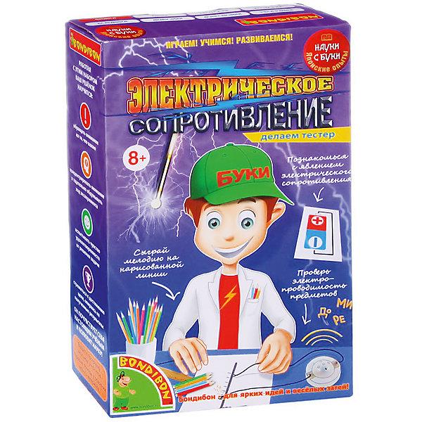 Японские опыты Электрическое сопротивлениеХимия и физика<br>С таким набором Ваш ребенок откроет для себе необычайно интересный мир электричества!<br>Он узнает чему может сопротивляться электрический ток, что такое электропроводность, какие материалы хорошо проводят электричество, а какие не проводят вообще. После изучения всех опытов, родители могут быть спокойны за своего малыша: зная о свойствах электрического тока, ребенок будет обращаться с электроприборами осторожно и аккуратно.<br>В наборе: тестер электропроводности, 2 провода, подробная инструкция.<br><br>Дополнительная информация:<br><br>- Возраст: от 6 лет.<br>- Размер упаковки: 13x21.5x5.5 см.<br>- Вес в упаковке: 150 г.<br><br>Купить японские опыты Электрическое сопротивление можно в нашем магазине.<br>Ширина мм: 13; Глубина мм: 6; Высота мм: 21; Вес г: 168; Возраст от месяцев: 96; Возраст до месяцев: 144; Пол: Унисекс; Возраст: Детский; SKU: 4993055;