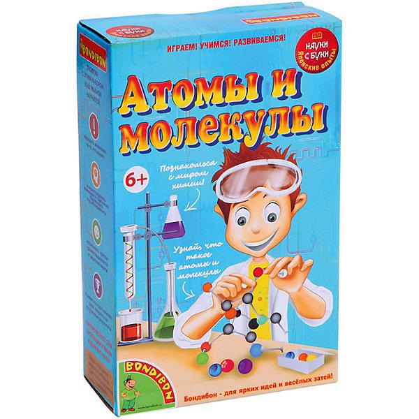 Японские опыты Атомы и молекулыХимия и физика<br>С водой все дети знакомы практически с рождения. Но как узнать, из чего она состоит? А каков состав воздуха, которым мы дышим? Оказывается, и вода, и воздух, и любое другое вещество на Земле состоит из мельчайших частиц – атомов, объединенных в определенные группы – молекулы. И соединены молекулы между собой не беспорядочно, а в строгой последовательности. Эти и многие другие полезные знания из области химии ребенок получит благодаря набору опытов Атомы и молекулы.<br>В наборе: 12 палочек, коробка, 20 белых атомов, 6 черных атомов, 6 красных атомов, 2 желтых атома, 2 зеленых атома, 2 синих атома, подробная инструкция.<br><br>Дополнительная информация:<br><br>- Возраст: от 6 лет.<br>- Материал: пластик.<br>- Размер упаковки: 13x20.5x5.5 см.<br><br>Купить набор японские опыты Атомы и молекулы можно в нашем магазине.<br><br>Ширина мм: 13<br>Глубина мм: 6<br>Высота мм: 21<br>Вес г: 236<br>Возраст от месяцев: 72<br>Возраст до месяцев: 144<br>Пол: Унисекс<br>Возраст: Детский<br>SKU: 4993074