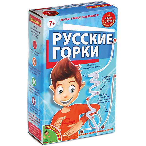 Японские опыты Русские горкиХимия и физика<br>Японские опыты Русские горки – воплотит мечту ребенка в реальность.<br>Русские горки – это не просто аттракцион дома, как мечтал ребенок. Это полезный образовательный комплекс, позволяющий с помощью игры объяснить ребенку физические понятия (импульс, как движется машинка без мотора и электричества) и многое другое. Множество интересных опытов ждет ребенка с набором японских опытов.<br><br>Дополнительная информация:<br><br>- материал: пластик, резина, пленка<br>- размер упаковки: 13х20,5х5,5<br>- вес: 300 г<br><br>Японские опыты Русские горки можно купить в нашем интернет магазине.<br>Ширина мм: 13; Глубина мм: 6; Высота мм: 21; Вес г: 261; Возраст от месяцев: 84; Возраст до месяцев: 144; Пол: Унисекс; Возраст: Детский; SKU: 4993081;
