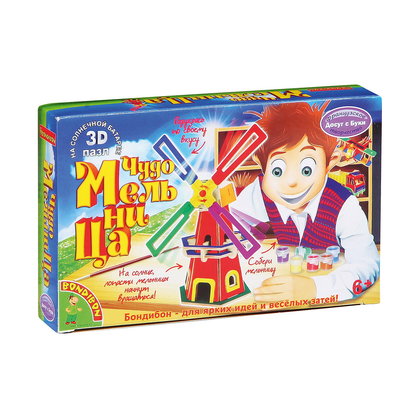 Bondibon Движущийся 3D-пазл Чудо-Мельница