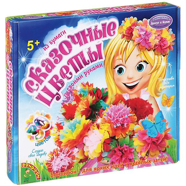 Набор для творчества Сказочные цветыПоследняя цена<br>Набор для творчества Сказочный букет в вазе – делаем подарки своими руками.<br>Красивые яркие цветы из бумаги делаются по очень простой схеме. Даже малыши, самостоятельно, могут сделать такую поделку и подарить потом ее. Дизайн цветов ребенок может выбрать самостоятельно, комбинируя элементы по собственному желанию. Точно также и с вазой, которую дети самостоятельно декорируют с помощью необычных наклеек.<br><br><br>Дополнительная информация:<br><br>- возраст: от 5 лет<br>- материал: бумага, картон, краситель<br>- количество деталей: 30<br><br>Набор для творчества Сказочный букет в вазе можно купить в нашем интернет магазине.<br>Ширина мм: 25; Глубина мм: 4; Высота мм: 27; Вес г: 355; Возраст от месяцев: 60; Возраст до месяцев: 144; Пол: Женский; Возраст: Детский; SKU: 4993112;