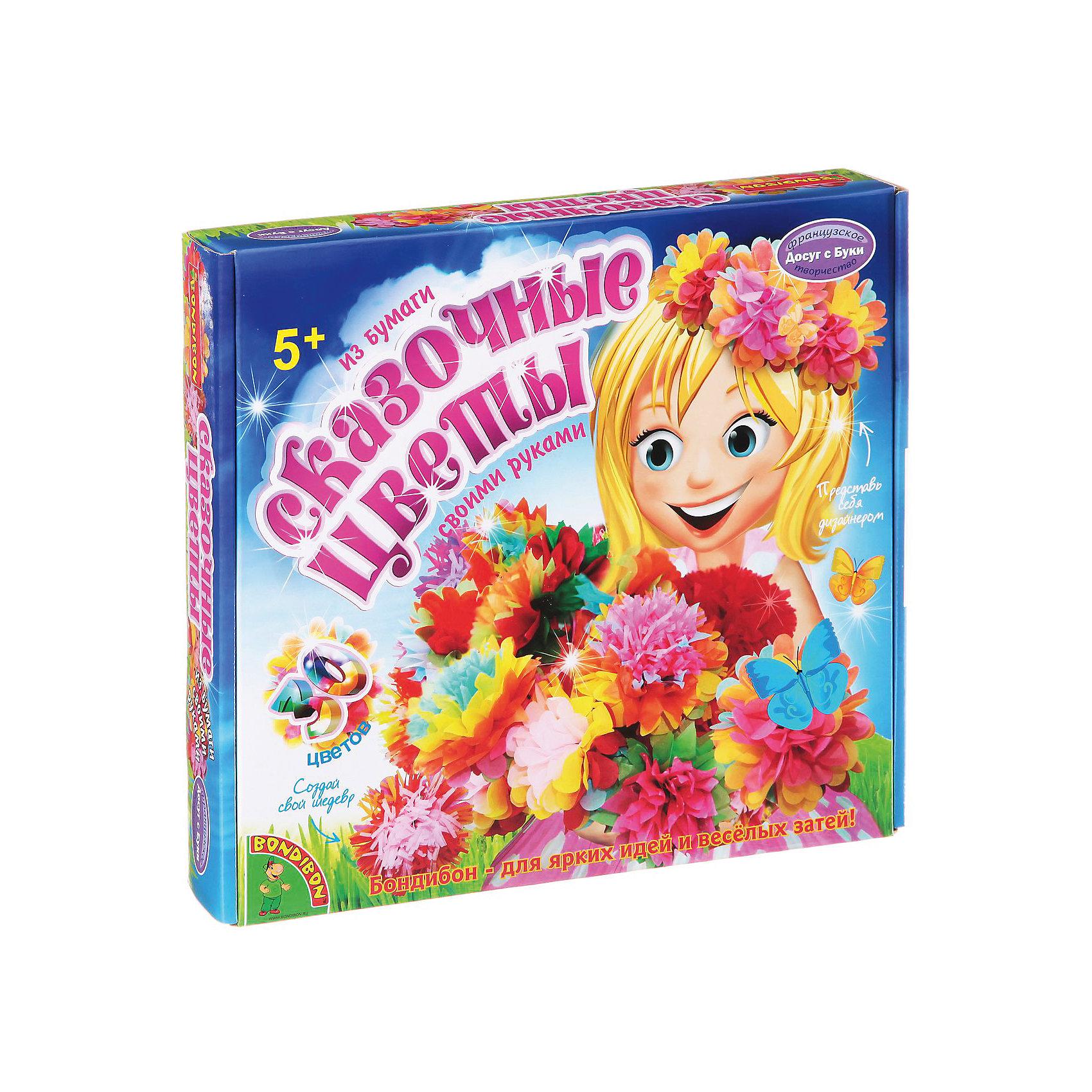 Набор для творчества Сказочные цветыПоследняя цена<br>Набор для творчества Сказочный букет в вазе – делаем подарки своими руками.<br>Красивые яркие цветы из бумаги делаются по очень простой схеме. Даже малыши, самостоятельно, могут сделать такую поделку и подарить потом ее. Дизайн цветов ребенок может выбрать самостоятельно, комбинируя элементы по собственному желанию. Точно также и с вазой, которую дети самостоятельно декорируют с помощью необычных наклеек.<br><br><br>Дополнительная информация:<br><br>- возраст: от 5 лет<br>- материал: бумага, картон, краситель<br>- количество деталей: 30<br><br>Набор для творчества Сказочный букет в вазе можно купить в нашем интернет магазине.<br><br>Ширина мм: 25<br>Глубина мм: 4<br>Высота мм: 27<br>Вес г: 355<br>Возраст от месяцев: 60<br>Возраст до месяцев: 144<br>Пол: Женский<br>Возраст: Детский<br>SKU: 4993112