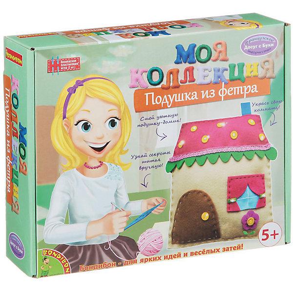Шьем из фетра Подушка-домикШитьё<br>Шьем из фетра Подушка-домик – легко даже для новичков.<br>Набор содержит приятные на ощупь выкройки для «вкусной» игрушки. Ткань изготовлена из качественного материала, не вызывающего аллергию. Подробная инструкция поможет ребенку сшить игрушку красиво и правильно, даже если он делает это впервые. Такая милая подушка станет настоящим украшением для детской комнаты.<br><br>Дополнительная информация:<br><br>- возраст: от 6 лет<br>- материал: фетр, наполнитель, нитки, иголка, инструкция<br>- игрушка: подушка-домик<br><br>Шьем из фетра Подушка-домик можно купить в нашем интернет магазине.<br>Ширина мм: 27; Глубина мм: 6; Высота мм: 22; Вес г: 261; Возраст от месяцев: 60; Возраст до месяцев: 144; Пол: Женский; Возраст: Детский; SKU: 4993128;