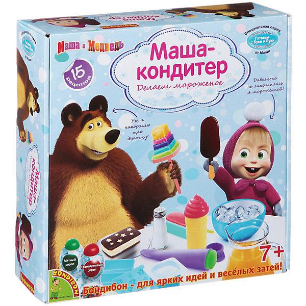 Французские опыты Маша-кондитер (15 экспериментов), Маша и медведьХимия и физика<br>Французские опыты Маша-кондитер (15 экспериментов), Маша и медведь – это увлекательный набор для вашей юной хозяюшки.<br>С помощью этого набора ты сможешь готовить не только вкусное, но и ярко оформленное мороженое, украшенное разнообразными способами! В инструкции ты сможешь найти множество интереснейших рецептов! Постигай азы кулинарного искусства и удивляй своих друзей и близких! В наборе 15 увлекательных экспериментов. Набор оформлен в тематике замечательного мультфильма «Маша и Медведь», и станет прекрасным подарком для маленьких кулинаров!<br><br>Дополнительная информация:<br><br>- В наборе: шейкер, рожок для мороженого, фигурная форма, форма для эскимо, палочка, форма для сэндвич-мороженого, инструкция<br>- Упаковка: картонная коробка<br>- Размер упаковки: 27х27х6 см.<br>- Вес: 500 гр.<br><br>Набор Французские опыты Маша-кондитер (15 экспериментов), Маша и медведь можно купить в нашем интернет-магазине.<br><br>Ширина мм: 27<br>Глубина мм: 8<br>Высота мм: 28<br>Вес г: 567<br>Возраст от месяцев: 84<br>Возраст до месяцев: 144<br>Пол: Женский<br>Возраст: Детский<br>SKU: 4993142
