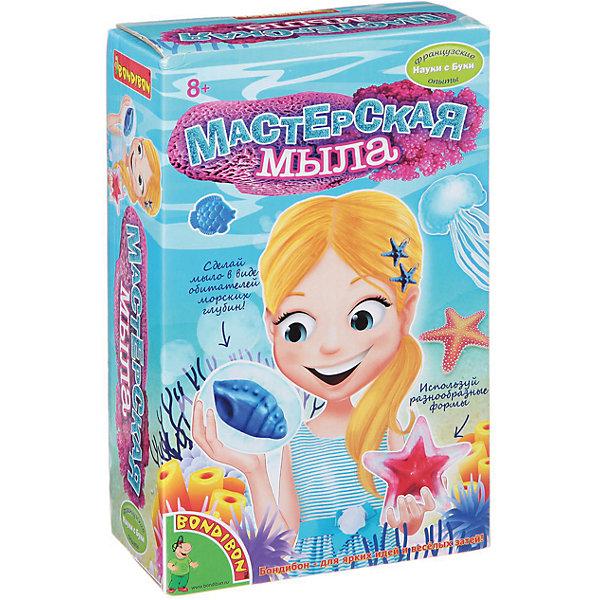 Французские опыты Мастерская мылаНаборы для создания мыла<br>Французские опыты Мастерская мыла – это увлекательный набор для изготовления дизайнерского мыла в виде морских обитателей.<br>Мыловарение – интересное и необычное хобби, становящееся все более популярным среди детей и взрослых. Это не просто веселая игра, но и весьма полезный для развития ребенка процесс. С набором «Мастерская мыла» ребенок быстро и в игровой форме сможет освоить безопасную технологию изготовления мыла ручной работы. В наборе можно найти все необходимое, чтобы создать уникальное мыло в форме обитателей морей и океанов. Это рыбка, раковина и морская звезда. Полученное мыло можно будет подарить друзьям и близким или пользоваться самому!<br><br>Дополнительная информация:<br><br>- В наборе: прозрачная мыльная основа, профессиональное пигментированное титаноксидное мыло, 2 косметических красителя, палочки для смешивания, мерные стаканы, тонкая палочка, блестки, перчатки, формы, инструкция<br>- Упаковка: картонная коробка<br>- Размер упаковки: 20,5 х 13 х 6 см.<br>- Вес: 162 гр.<br><br>Набор Французские опыты Мастерская мыла можно купить в нашем интернет-магазине.<br><br>Ширина мм: 13<br>Глубина мм: 7<br>Высота мм: 22<br>Вес г: 433<br>Возраст от месяцев: 96<br>Возраст до месяцев: 144<br>Пол: Унисекс<br>Возраст: Детский<br>SKU: 4993156