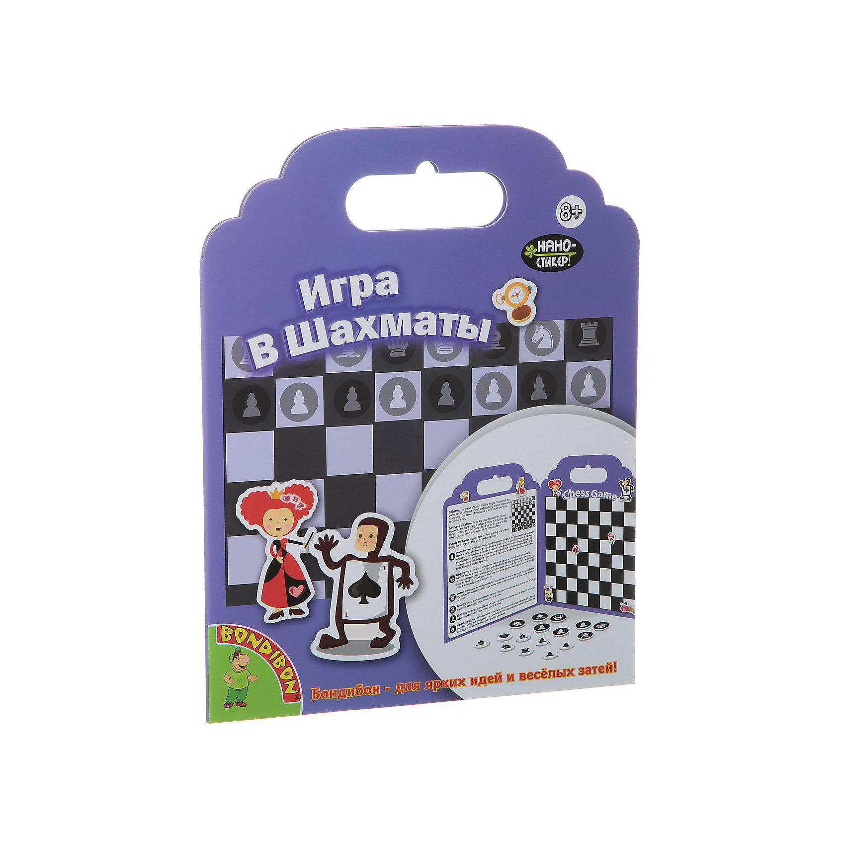 Игра с нано-стикерами ШахматыОбучение счету<br>Дети обожают наклейки и веселые картинки! С этим замечательным набором ребенок без труда научится играть в шахматы. Нужно лишь наклеить на игровое поле яркие стикеры. Оригинальные нано - стикеры выполнены из резины TPE, без клеевой или магнитной основы, поэтому могут использоваться много раз и отлично приклеиваются к любой гладкой поверхности. Набор занимает мало места, его удобно брать с собой в поездки и путешествия. Игра с нано-стикерами Шахматы обязательно порадует любого ребенка! <br><br>Дополнительная информация:<br><br>- Материал: картон, резина TPE.<br>- Размер упаковки: 26x20x1 см. <br>- Размер игрового поля в сложенном виде: 19х24 см.<br>- Комплектация: игровое поле, 24 наклеек. <br>- Многоразовые наклейки без клеевой или магнитной основы. <br><br>Игру с нано-стикерами Шахматы можно купить в нашем магазине.<br><br>Ширина мм: 19<br>Глубина мм: 1<br>Высота мм: 24<br>Вес г: 84<br>Возраст от месяцев: 96<br>Возраст до месяцев: 144<br>Пол: Унисекс<br>Возраст: Детский<br>SKU: 4993192