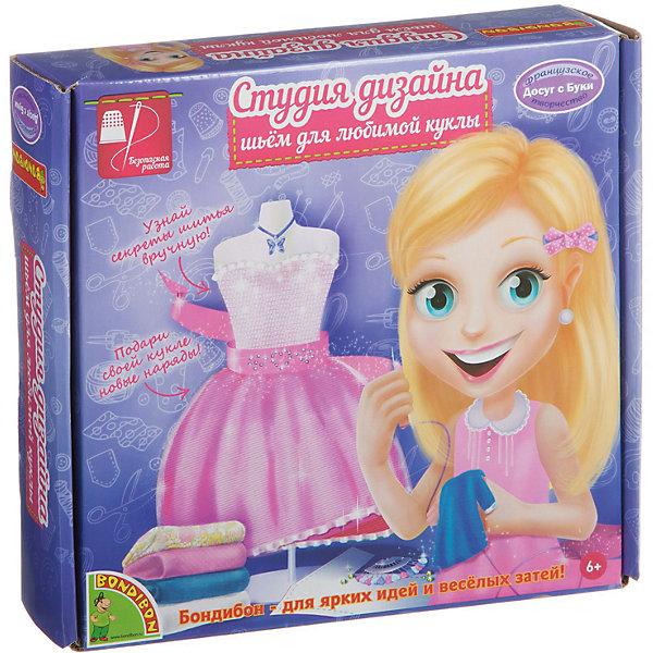 Студия дизайна Шьем для любимой куклыШитьё<br>Студия дизайна Шьем для любимой куклы торговой марки  Bondibon  предлагает Вашему ребенку научиться шить, а также интересно провести время. В наборе имеется все необходимое для создания прекрасного платья для куклы, а также  специальный манекен для примерок.  Готовое платье можно надеть на него. <br><br>Дополнительная информация:<br><br>- возраст: от 6 лет<br>- пол: для девочек<br>- комплект: выкройки-лекала, манекен для примерок, отрезы тканей, ленты, колье, -пуговички, стразы, портновские иглы, наперсток.<br>- материал: текстиль, пластик, металл.<br>- размер упаковки: 26 * 5 * 22 см.<br>- упаковка: картонная коробка.<br>- страна обладатель бренда: Бельгия.<br><br>Студию дизайна Шьем для любимой куклы торговой марки  Bondibon можно купить в нашем интернет-магазине<br><br>Ширина мм: 26<br>Глубина мм: 5<br>Высота мм: 22<br>Вес г: 333<br>Возраст от месяцев: 72<br>Возраст до месяцев: 144<br>Пол: Женский<br>Возраст: Детский<br>SKU: 4993243
