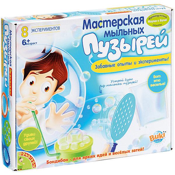 Французские опыты Мастерская мыльных пузырей (8 экспериментов)Наборы для создания мыла<br>Надувать мыльные пузыри любят даже взрослые, что уж говорить о детях! Чистые, воздушные, завораживающие – они способны поднять настроение даже в самый пасмурный день. Только сделай глубокий выдох! А как было бы здорово продлить это удовольствие как можно дольше... С Мастерской мыльных пузырей торговой марки  Bondibon такая возможность есть! Даже неизвестно, кому эта игра больше понравится – Вам или Вашему ребенку. Пузыри  могут быть не только в форме шариков, но еще и кубиков, могут вытягиваться и сжиматься, выдуваться группами и так далее. В игровой набор входит бесперебойный конвейер по производству разнообразных мыльных пузырей. Ребенку достаточно освоить несколько простых движений, и он ощутит себя маленьким волшебником. Конвейер позволяет создавать целую бурю из мельчайших пузырей или надуть невероятно гигантский мыльный шар. Всего же с мыльными пузырями можно проводить 8 разных экспериментов. В состав набора входят большой контейнер под мыльный раствор, рукоятка, двойная трубочка, бобина, пластиковые трубочки, трубочки для надувания пузырей, формочки, большой контейнер, воздушные шарики, рукоятка, небольшой аквариум, красочная инструкция с помощью, которой узнает много интересного, разовьет интеллект, фантазию и воображение.<br><br>Дополнительная информация:<br><br>- возраст: от 6 лет<br>- пол: для мальчиков и девочек<br>- комплект: трубочки, шарики, формочки для выдувания, разнообразные аксессуары, инструкция.<br>- материал : пластик, резина.<br>- размер упаковки: 26.5 * 22.5 * 6 см.<br>- упаковка: картонная коробка.<br>- доступные эксперименты: буря из пузырей, он крутится, ты все увидишь дважды, маленькое джакузи, мыльный насос, необыкновенные формы, плоский пузырь, необычные палочки.<br>- страна обладатель бренда: Бельгия.<br><br>Французские опыты Мастерская мыльных пузырей торговой марки  Bondibon можно купить в нашем интернет-магазине<br><br>Ширина мм: 27<br>Глубина
