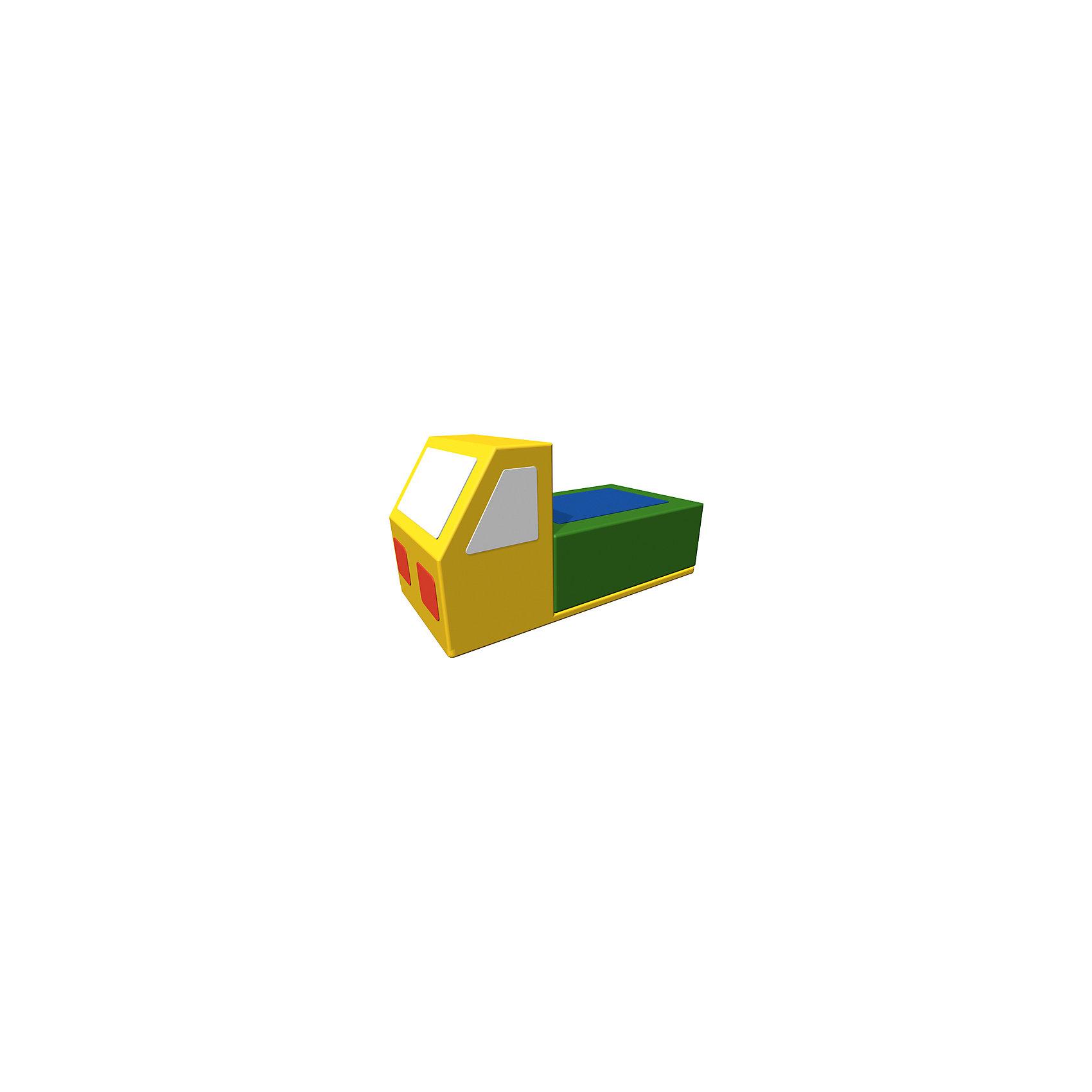 Игровая мебель Грузовик, ROMANAМебель<br>Мягкий комплекс – контурная Изделие в детскую комнату, который укрепляет мышцы спины и развивает равновесие. Форма «грузовик» понравится всем мальчикам. Полное отсутствие острых углов и твердых поверхностей позволит детям использовать игрушку в своих играх и не получить травм или повреждений. Изделие подходит к другим модулям из серии. Развивает координацию, вестибулярный аппарат и ловкость. Материалы, использованные при изготовлении комплекса, абсолютно безопасны для детей и отвечают всем международным требованиям по качеству. <br><br>Дополнительная информация: <br><br>цвет: разноцветный;<br>размер: 60х30х30 см;<br>материал: поролон, винилискожа.<br><br>Мягкий комплекс «Грузовик»  для детей от компании ROMANA можно приобрести в нашем магазине.<br><br>Ширина мм: 600<br>Глубина мм: 250<br>Высота мм: 300<br>Вес г: 1500<br>Возраст от месяцев: 36<br>Возраст до месяцев: 120<br>Пол: Унисекс<br>Возраст: Детский<br>SKU: 4993342