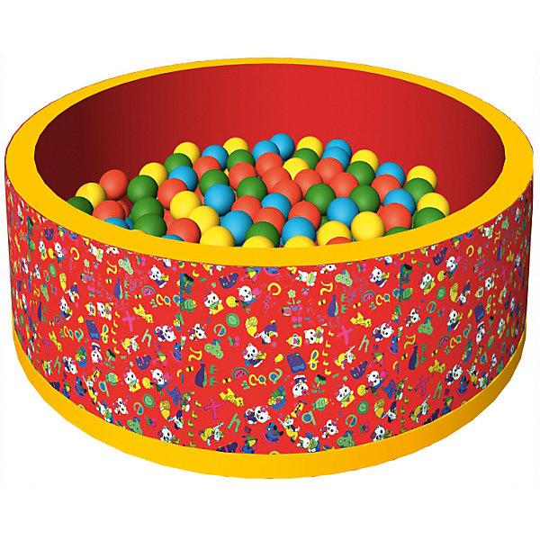 Сухой бассейн Веселая полянка, ROMANA, красныйБассейны<br>Бассейн сухой с шариками – мечта всех детей! В бассейне 150 разноцветных шариков. Модель довольно компактного размера, так что будет прекрасно помещаться в детскую комнату. Шарики развивают ловкость и мелкую моторику. Жесткость шариков комфортна для прикосновения и не травмирует малышей. Все детали легко очищаются даже от самых сложных загрязнений. Материалы, использованные при изготовлении изделия, абсолютно безопасны для детей и отвечают всем международным требованиям по качеству. <br><br>Дополнительная информация: <br><br>количество: 150 шт;<br>цвет: красный;<br>размер: 100 х 100 х 33 см;<br>материал: дюспо.<br><br>Бассейн сухой с шариками «Веселая полянка» для детей от компании ROMANA можно приобрести в нашем магазине.<br><br>Ширина мм: 680<br>Глубина мм: 500<br>Высота мм: 350<br>Вес г: 5000<br>Возраст от месяцев: 36<br>Возраст до месяцев: 120<br>Пол: Унисекс<br>Возраст: Детский<br>SKU: 4993352