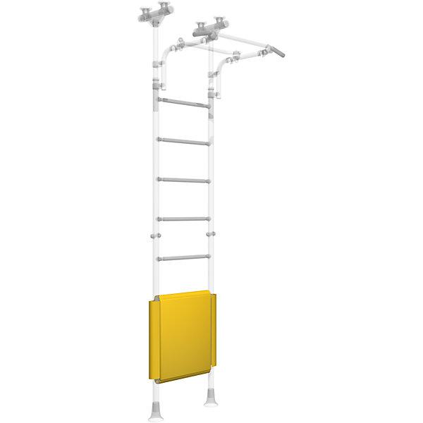 Ограничитель для шведской стенки, двусторонний (490мм), ROMANAШведские стенки<br>Ограничитель на ДСКМ двусторонний (490мм), ROMANA.<br><br>Характеристики:<br><br>• Цвет: желтый<br>• Вес: 0,1 кг<br>• Размер: 120 х 74 х 0,3 см<br>• Материал: винилискожа<br><br>Яркий желтый ограничитель для детского спортивного комплекса обеспечит полную безопасность для вашего ребенка. С помощью ограничителя вы сможете закрыть три ступеньки у шведской стенки. Вы можете ограничить доступ, полностью установив ограничитель на последние ступеньки, или же отмерить допустимую высоту. <br><br>Ограничитель на ДСКМ двусторонний (490мм), ROMANA можно купить в нашем интернет-магазине.<br><br>Ширина мм: 700<br>Глубина мм: 350<br>Высота мм: 20<br>Вес г: 200<br>Возраст от месяцев: 12<br>Возраст до месяцев: 144<br>Пол: Унисекс<br>Возраст: Детский<br>SKU: 4993360