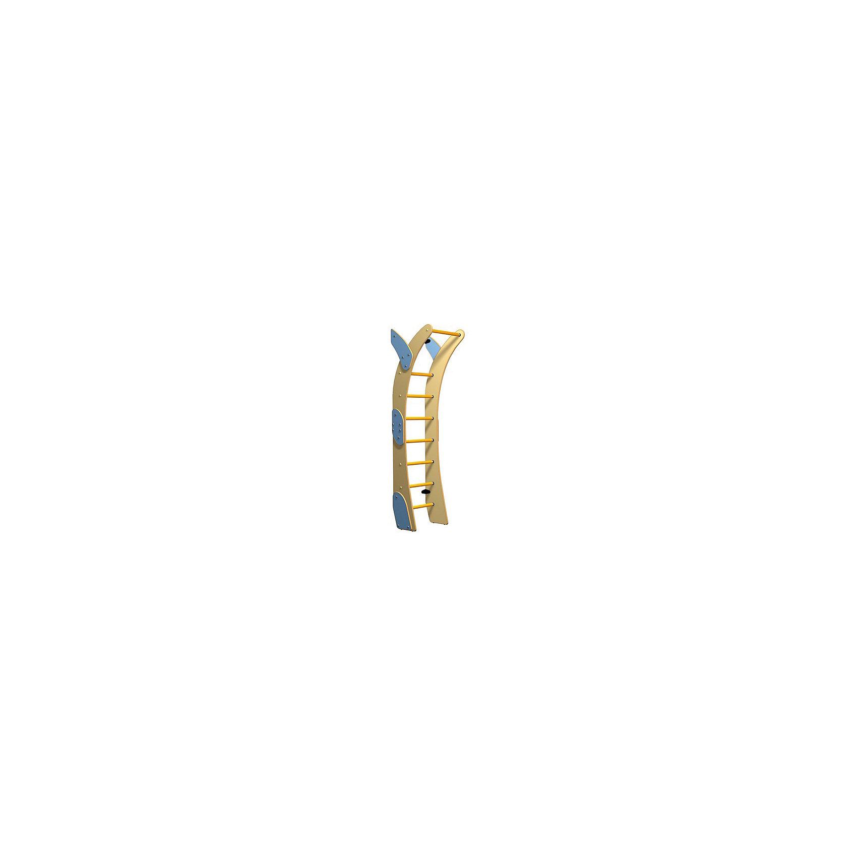 Шведская стенка Луна большая, ROMANAШведские стенки<br>Луна маленькая, ROMANA.<br><br>Характеристики:<br><br>• Высота: 1,900 м<br>• Цвет: красный, желтый<br>• Допустимый вес: 70 кг<br>• Габариты: 42х56,2 см<br>• Материал: металл<br>• Возраст: от 3 лет<br><br>Удобная шведская стенка для самых маленьких. Крепится она с помощью болтов к стене, что делает эту стенку безопасной для вашего малыша. Тренажер позволит делать упражнения на все группы мышц. Стенка хоть и большая, но сделана с учетом полной безопасности для ребенка. Ступеньки гладкие, но не скользящие. Стенку легко мыть или протирать влажной тряпкой.<br><br>Луна маленькая, ROMANA можно купить в нашем интернет-магазине.<br><br>Ширина мм: 1200<br>Глубина мм: 430<br>Высота мм: 80<br>Вес г: 17000<br>Возраст от месяцев: 36<br>Возраст до месяцев: 192<br>Пол: Унисекс<br>Возраст: Детский<br>SKU: 4993376