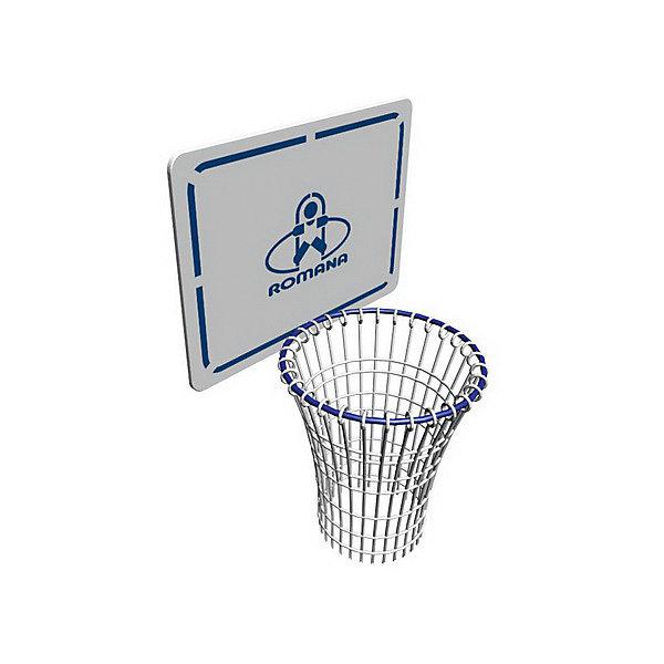 Щит баскетбольный, ROMANAИгровые наборы<br>Щит баскетбольный, ROMANA<br><br>Характеристики:<br>• Размер: 46х37 см<br>• Диаметр кольца: 23,5 см<br>• Установка: крепление за перекладину на любой высоте<br>Удобный баскетбольный щит с корзиной крепится за перекладину. Можно установить на любую высоту, подобрав под рост ребенка. Щит можно использовать как на улице, так и дома. Изготовлен щит и корзина из качественного и крепкого материала. Краска и рисунок не светлеют и не портятся от частых тренировок. Легко мыть и очищать от загрязнений.<br>Щит баскетбольный, ROMANA можно купить в нашем интернет-магазине.<br><br>Ширина мм: 460<br>Глубина мм: 380<br>Высота мм: 50<br>Вес г: 3000<br>Возраст от месяцев: 36<br>Возраст до месяцев: 192<br>Пол: Унисекс<br>Возраст: Детский<br>SKU: 4993384