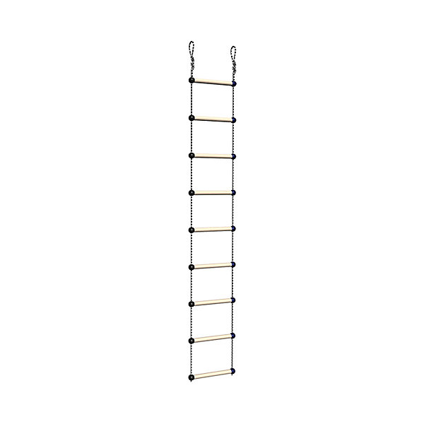 Лестница веревочная, ROMANAСкакалки<br>Лестница веревочная, ROMANA<br><br>Характеристики:<br><br>• Высота: 230 см<br>• Материал: дерево<br>• Максимальная нагрузка: 50 кг<br><br>Веревочная лестница послужит отличным дополнением к детскому спортивному комплексу. Благодаря крепким материалам и надежному креплению ребенок не получит травму и использование лестницы будет полностью безопасным. Такая лестница подходит к другим модулям из этой серии. Несмотря на то, что лестница «веревочная», она имеет достаточно устойчивые ступеньки.<br><br>Лестницу веревочную, ROMANA можно купить в нашем интернет-магазине.<br><br>Ширина мм: 380<br>Глубина мм: 300<br>Высота мм: 50<br>Вес г: 2000<br>Возраст от месяцев: 36<br>Возраст до месяцев: 192<br>Пол: Унисекс<br>Возраст: Детский<br>SKU: 4993388