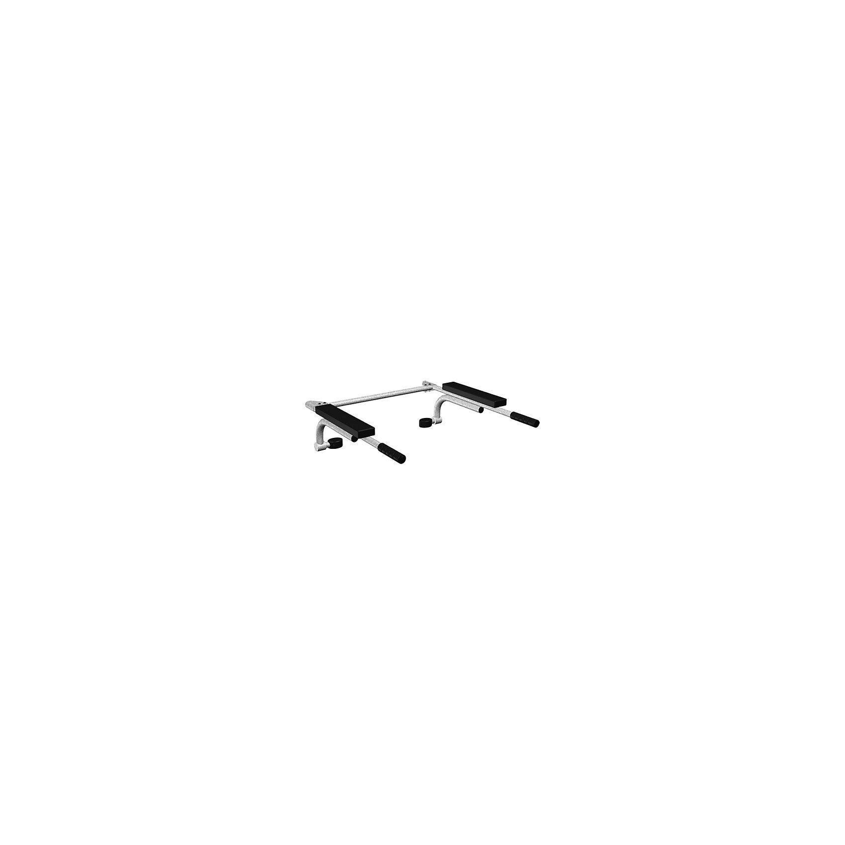 Брусья откидные (ширина 490 мм), ROMANAБрусья откидные (ширина 490 мм), ROMANA<br><br>Характеристики:<br><br>• Ширина: 49 см<br>• Материал: сталь, пластик<br>• Максимальная нагрузка: 100 кг<br><br>Откидные брусья послужат отличным дополнением к детскому спортивному комплексу. Благодаря крепким материалам и надежному креплению ребенок не получит травму и любые упражнения на брусьях будут полностью безопасными. Брусья подходят к другим модулям из этой серии. Такой элемент спортивного комплекса развивает несколько групп мышц. Можно крепить сверху или на уровне середины спины. Ручки можно поднять и зафиксировать на шведской стенке.<br><br>Брусья откидные (ширина 490 мм), ROMANA можно купить в нашем интернет-магазине.<br><br>Ширина мм: 900<br>Глубина мм: 240<br>Высота мм: 50<br>Вес г: 8000<br>Возраст от месяцев: 36<br>Возраст до месяцев: 192<br>Пол: Унисекс<br>Возраст: Детский<br>SKU: 4993392