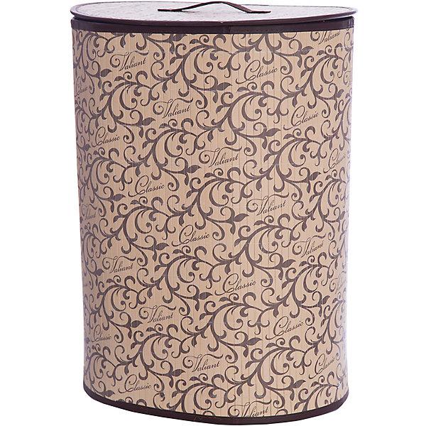 Корзина для белья с крышкой, 30*40*55 см, CLASSIC, ValiantКорзины для белья<br>Корзина для белья с крышкой, 30*40*55 см, CLASSIC, Valiant (Валиант) – это удобный аксессуар, обеспечивающий эстетичное хранение вещей.<br>Складная корзина для белья с крышкой CLASSIC от Valiant (Валиант) изготовлена из обработанного натурального бамбука и текстиля, хорошо держит форму благодаря металлическому каркасу. Корзина очень удобна и практична. Она идеально подойдет для сбора и хранения вещей перед стиркой, легкая крышка позволяет скрыть содержимое корзины. Каркасная конструкция обеспечивает легкость складывания и раскладывания. Внутренний чехол можно стирать в машинке при температуре 40°С. Натуральные материалы делают корзину экологичным и безопасным аксессуаром для дома. Изысканный дизайн изделия придется по вкусу ценителям классического стиля. Специально для CLASSIC Collection дизайнеры Valiant (Валиант) разработали фирменный классический вензель. Изысканный узор, гармония изящных линий и благородное сочетание цветов составляет основу элегантного дизайна CLASSIC Collection.  Корзина для белья Classic от Valiant (Валиант) гармонично вписывается в современный классический интерьер и станет незаменимым аксессуаром.<br><br>Дополнительная информация:<br><br>- Размер: 30х40х55 см.<br>- Материал: бамбук, текстиль, металл<br>- Цвет: коричневый, бежевый<br><br>Корзину для белья с крышкой, 30*40*55 см, CLASSIC, Valiant (Валиант) можно купить в нашем интернет-магазине.<br><br>Ширина мм: 350<br>Глубина мм: 50<br>Высота мм: 620<br>Вес г: 1499<br>Возраст от месяцев: 36<br>Возраст до месяцев: 1080<br>Пол: Унисекс<br>Возраст: Детский<br>SKU: 4993403
