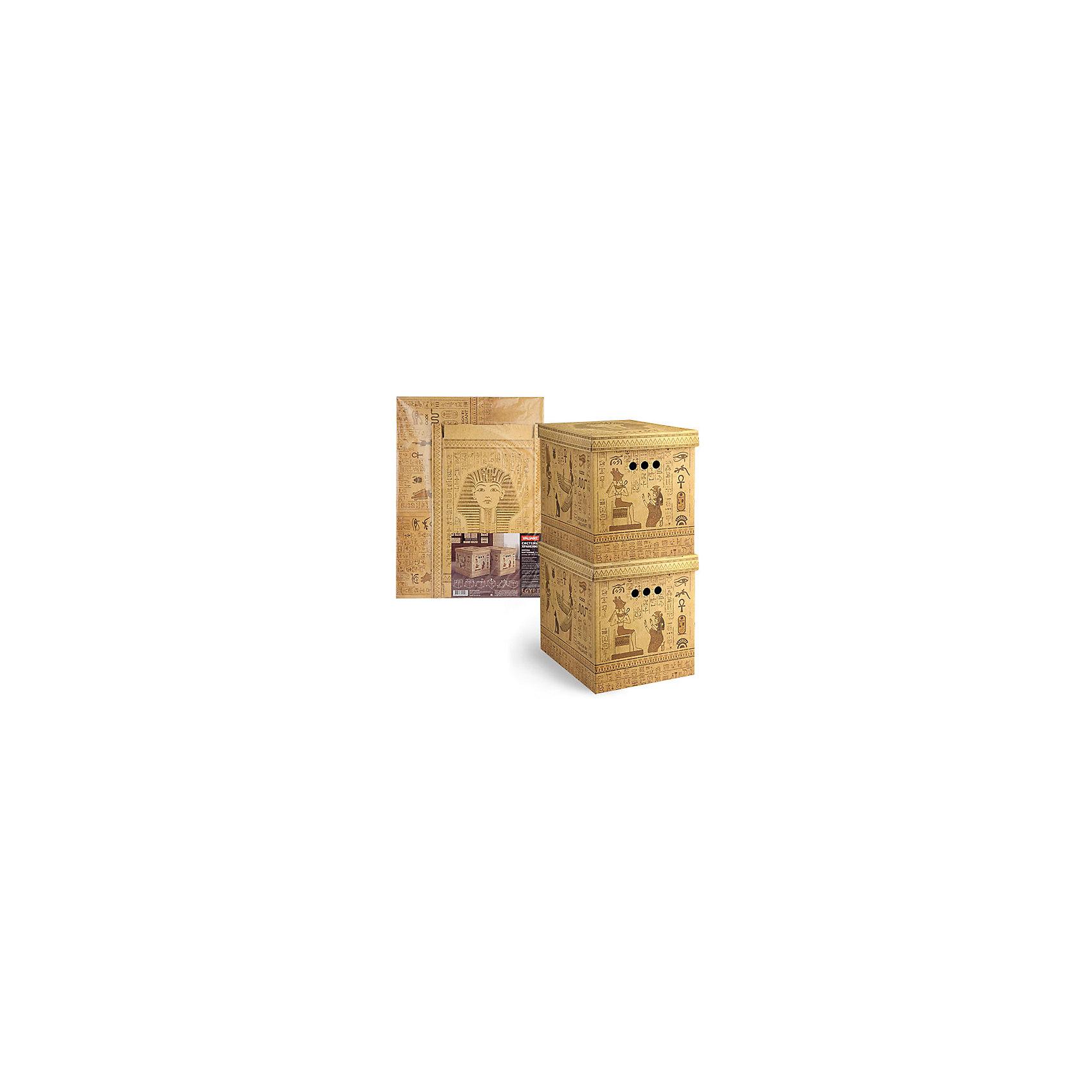 Короб картонный, складной, большой, 28*38*31.5 см, 2 шт., EGYPT, ValiantПорядок в детской<br>Короб картонный, складной, большой, 28*38*31.5 см, 2 шт., EGYPT, Valiant (Валиант) - это идеальное решение для хранения вещей.<br>Складные картонные короба EGYPT от Valiant (Валиант) идеально подходят для хранения различных бытовых предметов, аксессуаров и одежды. Они изготовлены микрогофрокартона. Прорезные ручки с двух сторон коробов обеспечивают удобство при переноске. Крышки эстетично закрывает содержимое внутри коробов. Изделия отличаются мобильностью: легко раскладываются и складываются. Короба можно штабелировать. <br><br>Дополнительная информация:<br><br>- В наборе: 2 шт.<br>- Размер: 28х38х31,5 см.<br>- Материал: микрогофрокартон<br>- Цвет: бежевый<br><br>Короб картонный, складной, большой, 28*38*31.5 см, 2 шт., EGYPT, Valiant (Валиант) можно купить в нашем интернет-магазине.<br><br>Ширина мм: 490<br>Глубина мм: 10<br>Высота мм: 650<br>Вес г: 630<br>Возраст от месяцев: 36<br>Возраст до месяцев: 1080<br>Пол: Унисекс<br>Возраст: Детский<br>SKU: 4993412