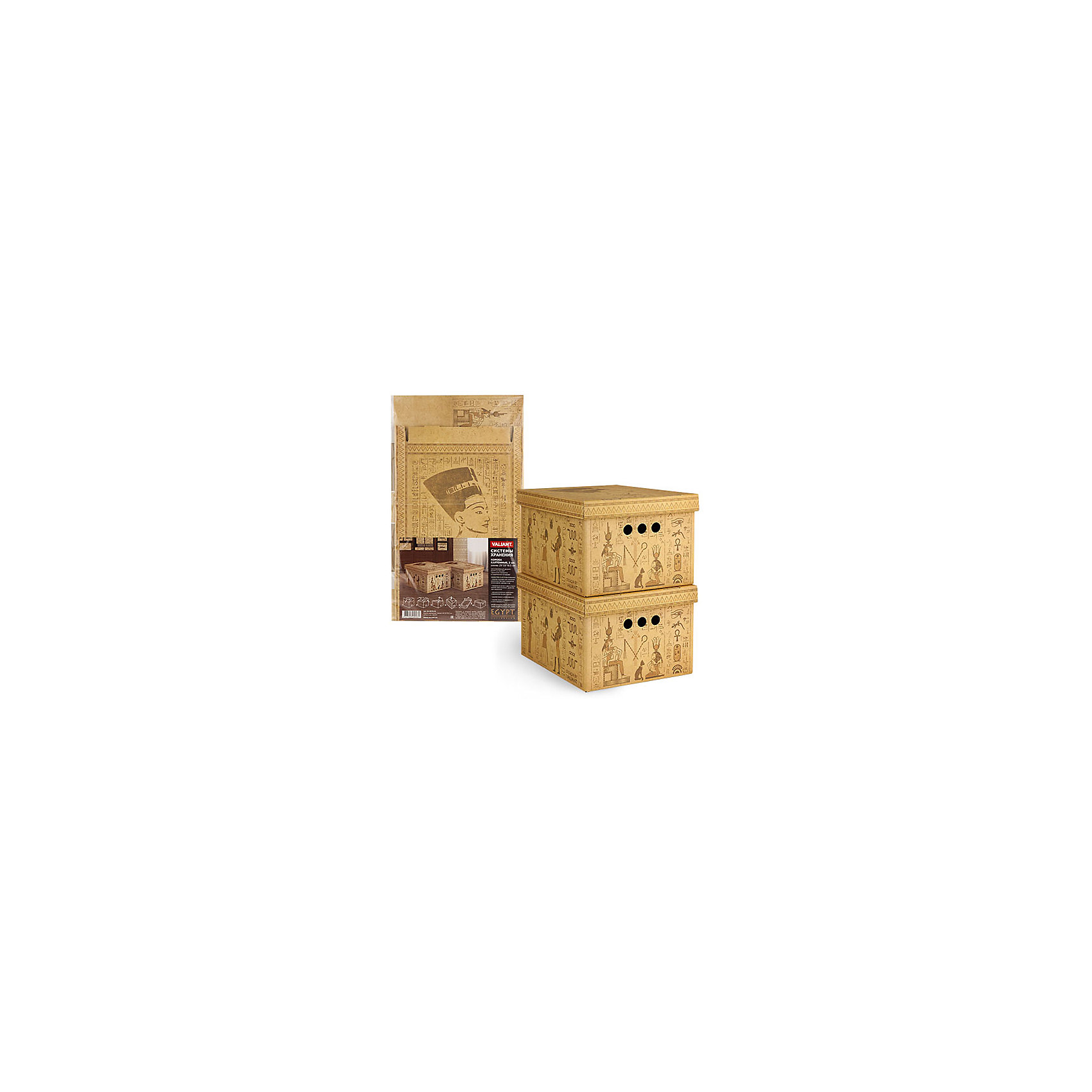 VALIANT Короб картонный, складной, малый, 25*33*18.5 см, 2 шт., EGYPT, Valiant коробки для хранения valiant ящик для хранения egypt 2 шт