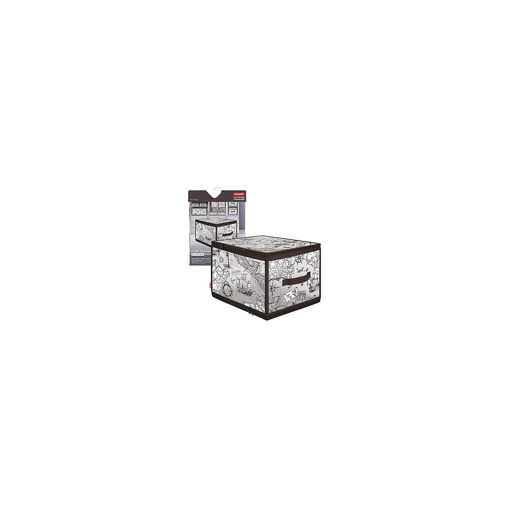 VALIANT Кофр для хранения с застёжкой-молнией, EXPEDITION, Valiant коробки для хранения valiant кофр travelling photos 2 шт