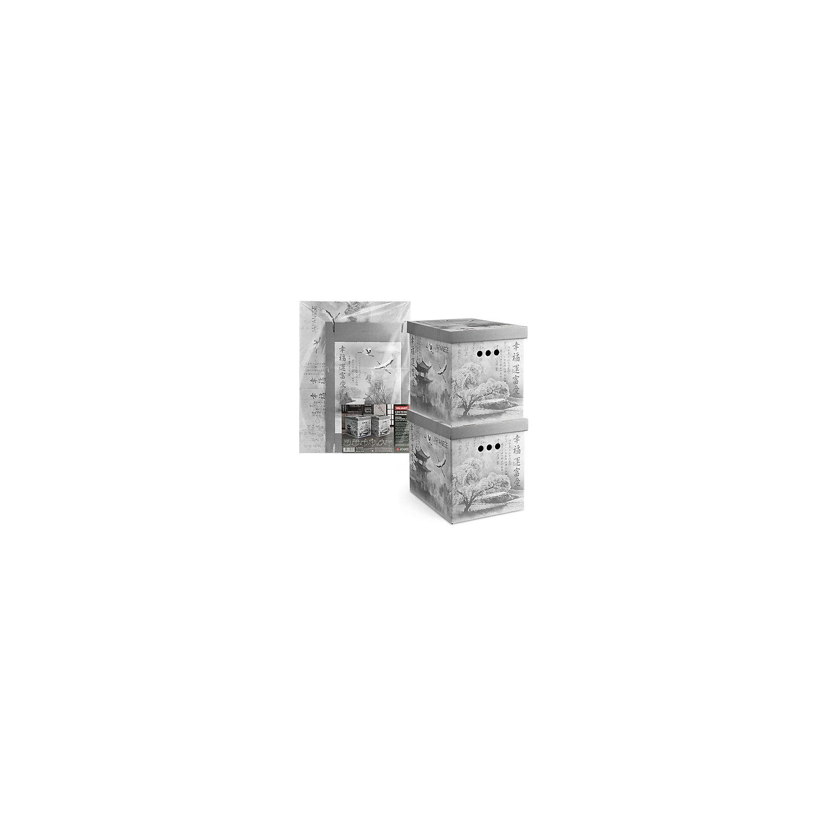 VALIANT Короб картонный, складной, большой, 28*38*31.5 см, 2 шт., JAPANESE BLACK, Valiant