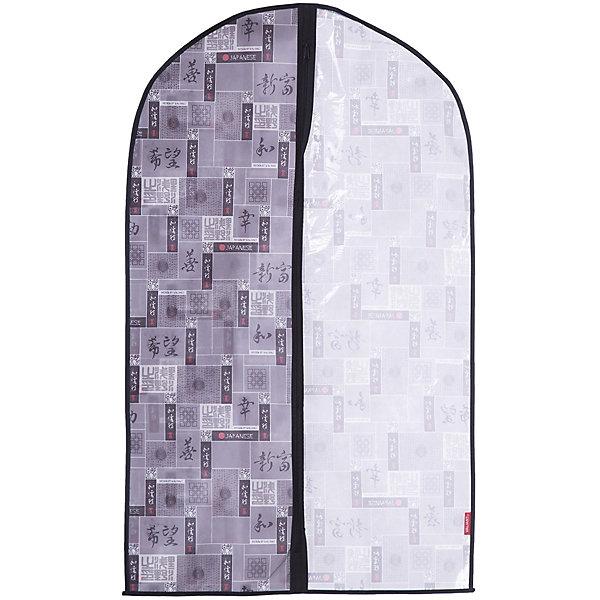 Чехол для одежды, малый, 60*100*10 см, JAPANESE BLACK, ValiantОрганайзеры для одежды<br>Чехол для одежды, малый, 60*100*10 см, JAPANESE BLACK, Valiant (Валиант) – это эстетичное решение для хранения одежды.<br>Чехол для одежды JAPANESE BLACK от Valiant (Валиант) разработан специально для хранения короткой верхней одежды: шуб, дубленок, пуховиков, пальто, плащей, костюмов и платьев. Он изготовлен из высококачественного нетканого материала, который обеспечивает естественную вентиляцию, позволяя воздуху проникать внутрь, но не пропускает пыль. Чехол очень удобен в использовании. Прозрачная вставка позволит увидеть вещь в чехле, не расстегивая его. Чехол легко открывается и закрывается застежкой-молнией. Идеально подойдет для хранения одежды и удобной перевозки. Чехол JAPANESE BLACK от Valiant (Валиант) гармонично смотрится в гардеробе. Лаконичный и сдержанный дизайн, напоминающий характер самурая, разработан специально для тех, кто предпочитает строгие линии и неяркие практичные цвета. В принте использованы японские иероглифы богатство, удача, благодеяние, гармония, мир и согласие.<br><br>Дополнительная информация:<br><br>- Размер: 60х100х10 см.<br>- Материал: нетканый материал, ПВХ<br>- Цвет: серый, черный<br><br>Чехол для одежды, малый, 60*100*10 см, JAPANESE BLACK, Valiant (Валиант) можно купить в нашем интернет-магазине.<br>Ширина мм: 205; Глубина мм: 10; Высота мм: 430; Вес г: 189; Возраст от месяцев: 36; Возраст до месяцев: 1080; Пол: Унисекс; Возраст: Детский; SKU: 4993438;