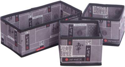 VALIANT Набор органайзеров, 3 шт., без крышки, JAPANESE BLACK, Valiant