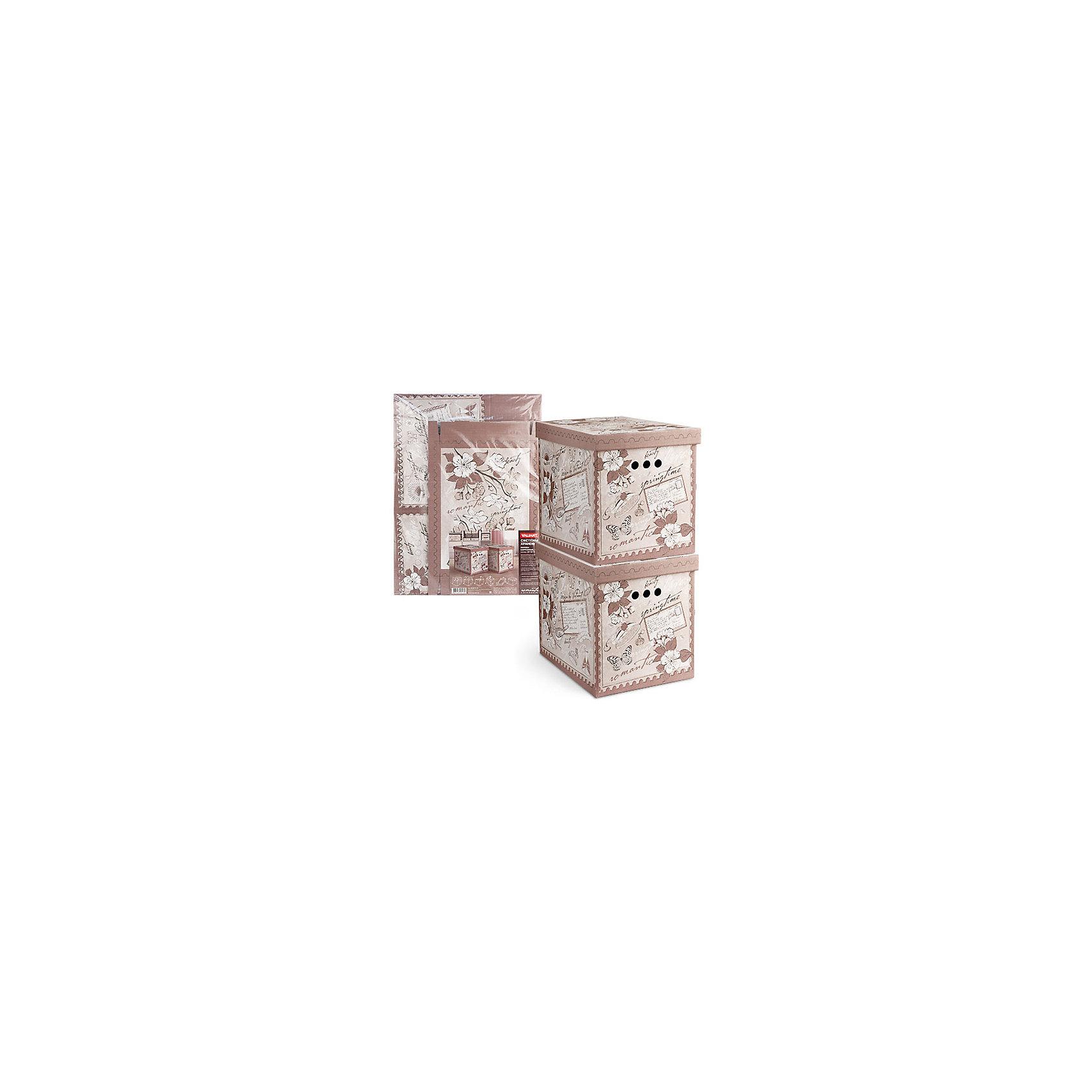 VALIANT Короб картонный, складной, большой, 28*38*31.5 см, 2 шт., ROMANTIC, Valiant