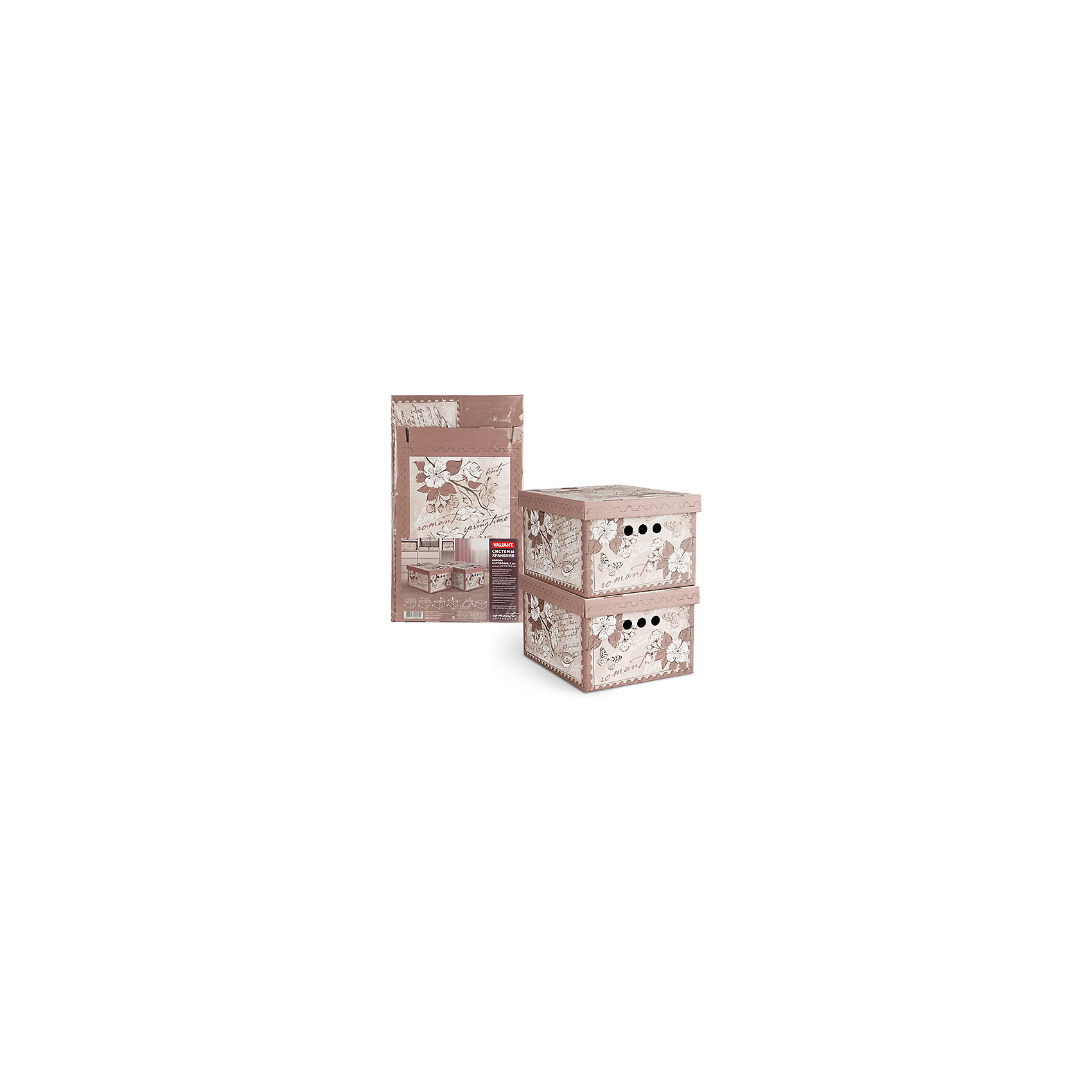 Короб картонный, складной, малый, 25*33*18.5 см, 2 шт., ROMANTIC, ValiantПорядок в детской<br>Короб картонный, складной, малый, 25*33*18.5 см, 2 шт., ROMANTIC, Valiant (Валиант) - это идеальное решение для хранения вещей.<br>Складные картонные короба ROMANTIC от Valiant (Валиант) идеально подходят для хранения различных бытовых предметов, аксессуаров и одежды. Они изготовлены микрогофрокартона. Прорезные ручки с двух сторон коробов обеспечивают удобство при переноске. Крышки эстетично закрывает содержимое внутри коробов. Изделия отличаются мобильностью: легко раскладываются и складываются. Короба можно штабелировать. Картонные короба ROMANTIC оформлены оригинальным нежным, изящным рисунком, который гармонично смотрится в женском гардеробе. Короба ROMANTIC от Valiant (Валиант) создадут трогательную атмосферу романтического настроения и станут незаменимым аксессуаром.<br><br>Дополнительная информация:<br><br>- В наборе: 2 шт.<br>- Размер: 25х33х18,5 см.<br>- Материал: микрогофрокартон<br>- Цвет: пепельно-розовый<br><br>Короб картонный, складной, малый, 25*33*18.5 см, 2 шт., ROMANTIC, Valiant (Валиант) можно купить в нашем интернет-магазине.<br><br>Ширина мм: 340<br>Глубина мм: 15<br>Высота мм: 580<br>Вес г: 425<br>Возраст от месяцев: 36<br>Возраст до месяцев: 1080<br>Пол: Унисекс<br>Возраст: Детский<br>SKU: 4993459