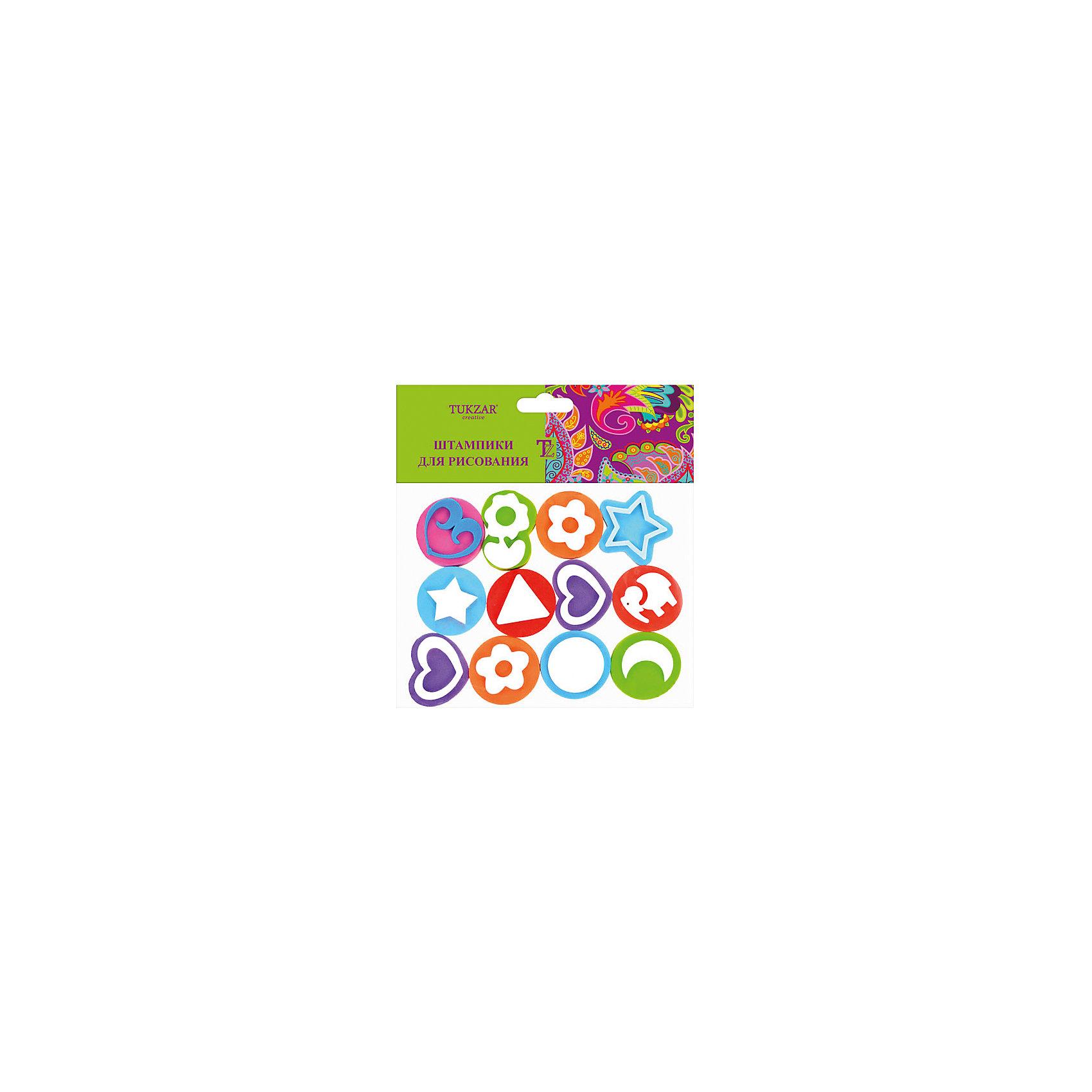 TUKZAR Набор штампиков для рисования (12 шт) набор для объемного 3д рисования feizerg fsp 001 фиолетовый