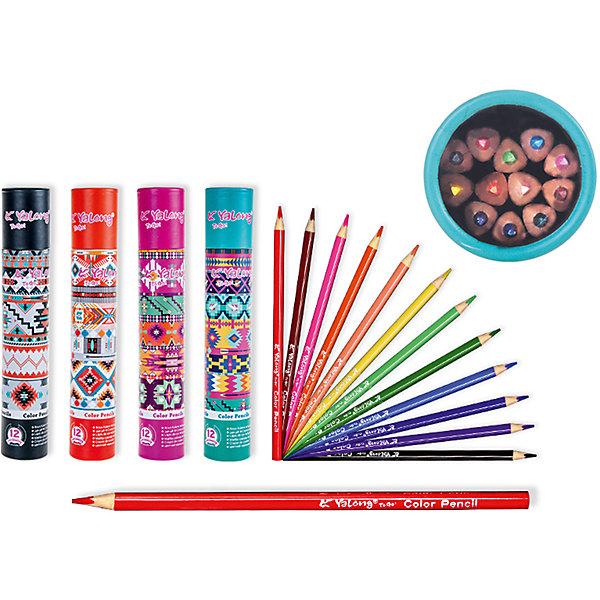Цветные карандаши в тубе, 12 цветов (дизайн тубы в ассортименте)Последняя цена<br>Набор цветных карандашей – классический пункт в списке школьных покупок. Качественные карандаши прослужат ребенку не один год даже при активном использовании. Важно подобрать набор с яркими цветами, мягким, но прочным стержнем и грифелем с легкой растушевкой. Данная модель набора цветных карандашей – отличный выбор для обновки школьного пенала. Карандаши имеют трехгранный корпус, что выглядит довольно необычно. Все материалы, использованные при изготовлении, отвечают международным требованиям по качеству и безопасности.<br><br>Дополнительная информация: <br>количество цветов: 12 шт;<br>упаковка: картонная туба, картонный дисплей. Цвет тубы в ассортименте.<br><br>Набор цветных карандашей можно приобрести в нашем магазине.<br>Ширина мм: 100; Глубина мм: 100; Высота мм: 10; Вес г: 50; Возраст от месяцев: 36; Возраст до месяцев: 120; Пол: Унисекс; Возраст: Детский; SKU: 4993552;