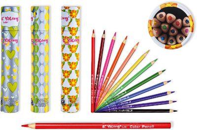 Schreiber Цветные карандаши в тубе, 12 цветов (дизайн в ассортименте)