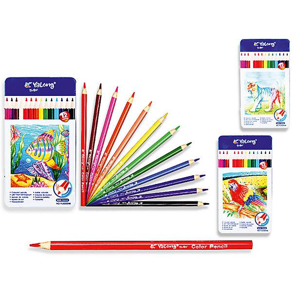 Трехгранные цветные карандаши, 12 цветов в металлическом кейсеПоследняя цена<br>Набор цветных карандашей – классический пункт в списке школьных покупок. Качественные карандаши прослужат ребенку не один год даже при активном использовании. Важно подобрать набор с яркими цветами, мягким, но прочным стержнем и грифелем с легкой растушевкой. Данная модель набора цветных карандашей – отличный выбор для обновки школьного пенала. Карандаши имеют трехгранный корпус, что выглядит довольно необычно. Все материалы, использованные при изготовлении, отвечают международным требованиям по качеству и безопасности.<br><br>Дополнительная информация: <br><br>количество цветов: 12 шт;<br>упаковка: металлическая, картонный дисплей.<br><br>Набор цветных карандашей можно приобрести в нашем магазине.<br><br>Ширина мм: 100<br>Глубина мм: 100<br>Высота мм: 10<br>Вес г: 50<br>Возраст от месяцев: 36<br>Возраст до месяцев: 120<br>Пол: Унисекс<br>Возраст: Детский<br>SKU: 4993555
