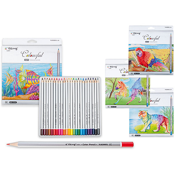 Цветные карандаши, 24 цветаПоследняя цена<br>Набор цветных карандашей – классический пункт в списке школьных покупок. Качественные карандаши прослужат ребенку не один год даже при активном использовании. Важно подобрать набор с яркими цветами, мягким, но прочным стержнем и грифелем с легкой растушевкой. Данная модель набора цветных карандашей – отличный выбор для обновки школьного пенала. Карандаши имеют шестигранный серебряный корпус. Упаковка выполнена с использованием объемного рисунка и выборочной лакировки. Все материалы, использованные при изготовлении, отвечают международным требованиям по качеству и безопасности.<br><br>Дополнительная информация: <br><br>количество цветов: 24 шт;<br>упаковка: металлическая, картонный дисплей.<br><br>Набор цветных карандашей можно приобрести в нашем магазине.<br>Ширина мм: 100; Глубина мм: 100; Высота мм: 10; Вес г: 50; Возраст от месяцев: 36; Возраст до месяцев: 120; Пол: Унисекс; Возраст: Детский; SKU: 4993558;