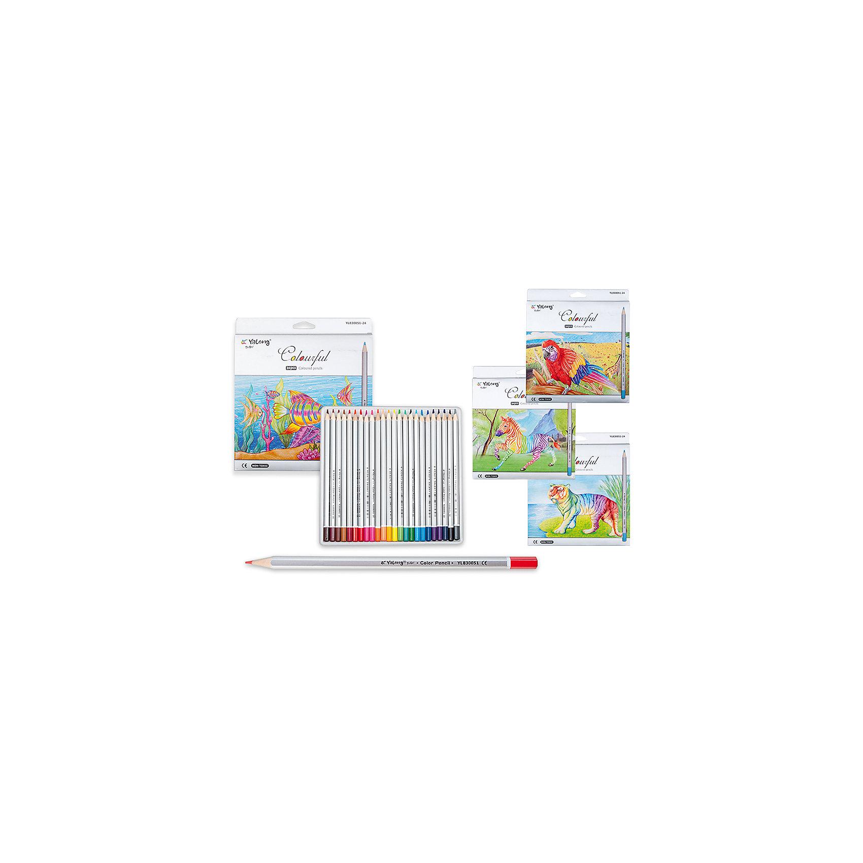 Цветные карандаши, 24 цветаНабор цветных карандашей – классический пункт в списке школьных покупок. Качественные карандаши прослужат ребенку не один год даже при активном использовании. Важно подобрать набор с яркими цветами, мягким, но прочным стержнем и грифелем с легкой растушевкой. Данная модель набора цветных карандашей – отличный выбор для обновки школьного пенала. Карандаши имеют шестигранный серебряный корпус. Упаковка выполнена с использованием объемного рисунка и выборочной лакировки. Все материалы, использованные при изготовлении, отвечают международным требованиям по качеству и безопасности.<br><br>Дополнительная информация: <br><br>количество цветов: 24 шт;<br>упаковка: металлическая, картонный дисплей.<br><br>Набор цветных карандашей можно приобрести в нашем магазине.<br><br>Ширина мм: 100<br>Глубина мм: 100<br>Высота мм: 10<br>Вес г: 50<br>Возраст от месяцев: 36<br>Возраст до месяцев: 120<br>Пол: Унисекс<br>Возраст: Детский<br>SKU: 4993558