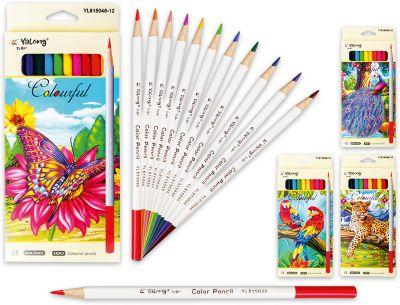 Schreiber Цветные карандаши, 12 цветов (дизайн в ассортименте)
