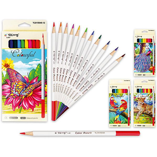 Цветные карандаши, 12 цветов (дизайн в ассортименте)Последняя цена<br>Набор цветных карандашей – классический пункт в списке школьных покупок. Качественные карандаши прослужат ребенку не один год даже при активном использовании. Важно подобрать набор с яркими цветами, мягким, но прочным стержнем и грифелем с легкой растушевкой. Данная модель набора цветных карандашей – отличный выбор для обновки школьного пенала. Карандаши имеют круглый бежевый корпус с цветным окончанием, что выглядит стильно. Все материалы, использованные при изготовлении, отвечают международным требованиям по качеству и безопасности.<br><br>Дополнительная информация: <br><br>количество цветов: 12 шт;<br>материал: дерево.<br><br>Цветные карандаши, 12 цветов (дизайн в ассортименте) можно приобрести в нашем магазине.<br>Ширина мм: 100; Глубина мм: 100; Высота мм: 10; Вес г: 50; Возраст от месяцев: 36; Возраст до месяцев: 120; Пол: Унисекс; Возраст: Детский; SKU: 4993597;